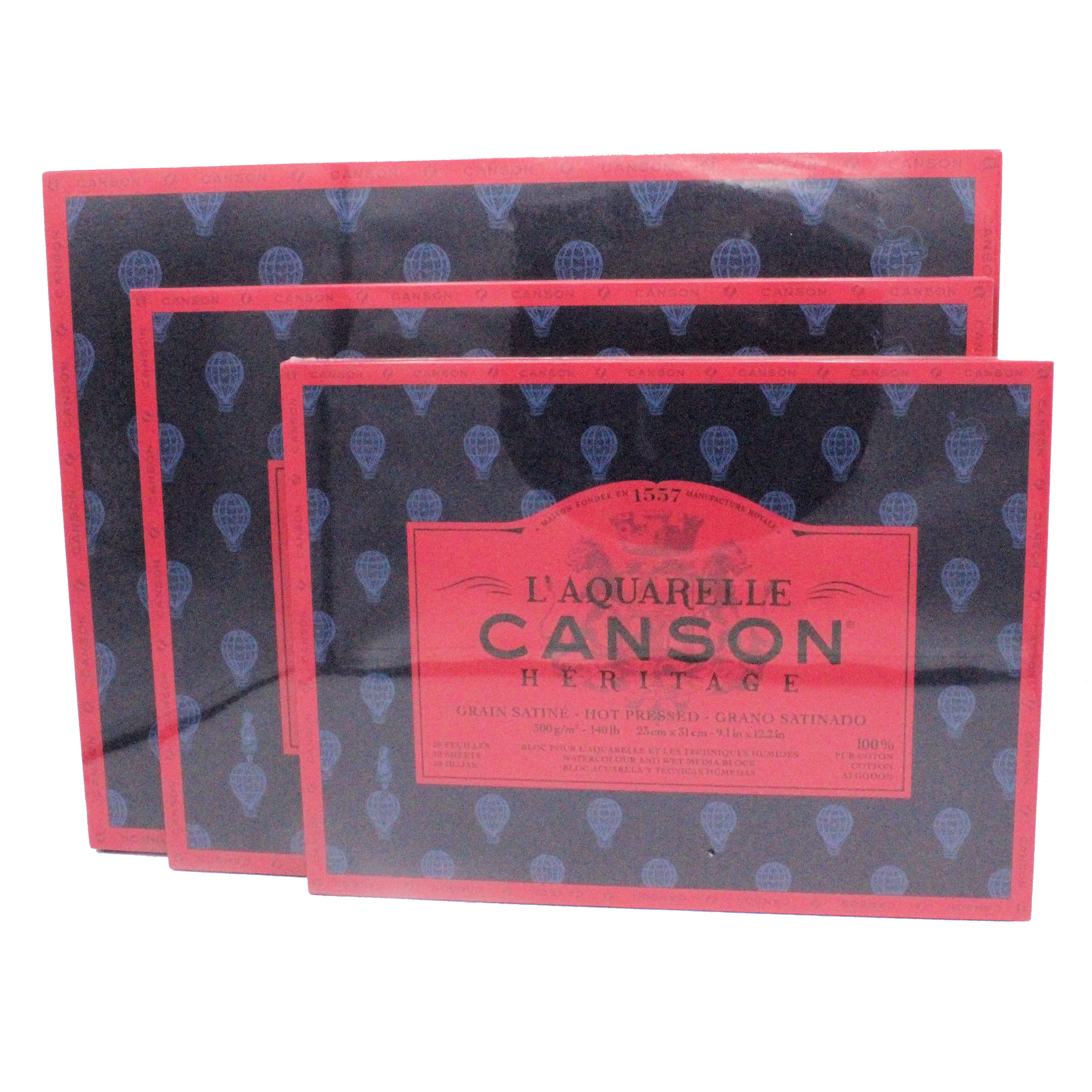 Canson Heritage Hotpress Block watercolour paper