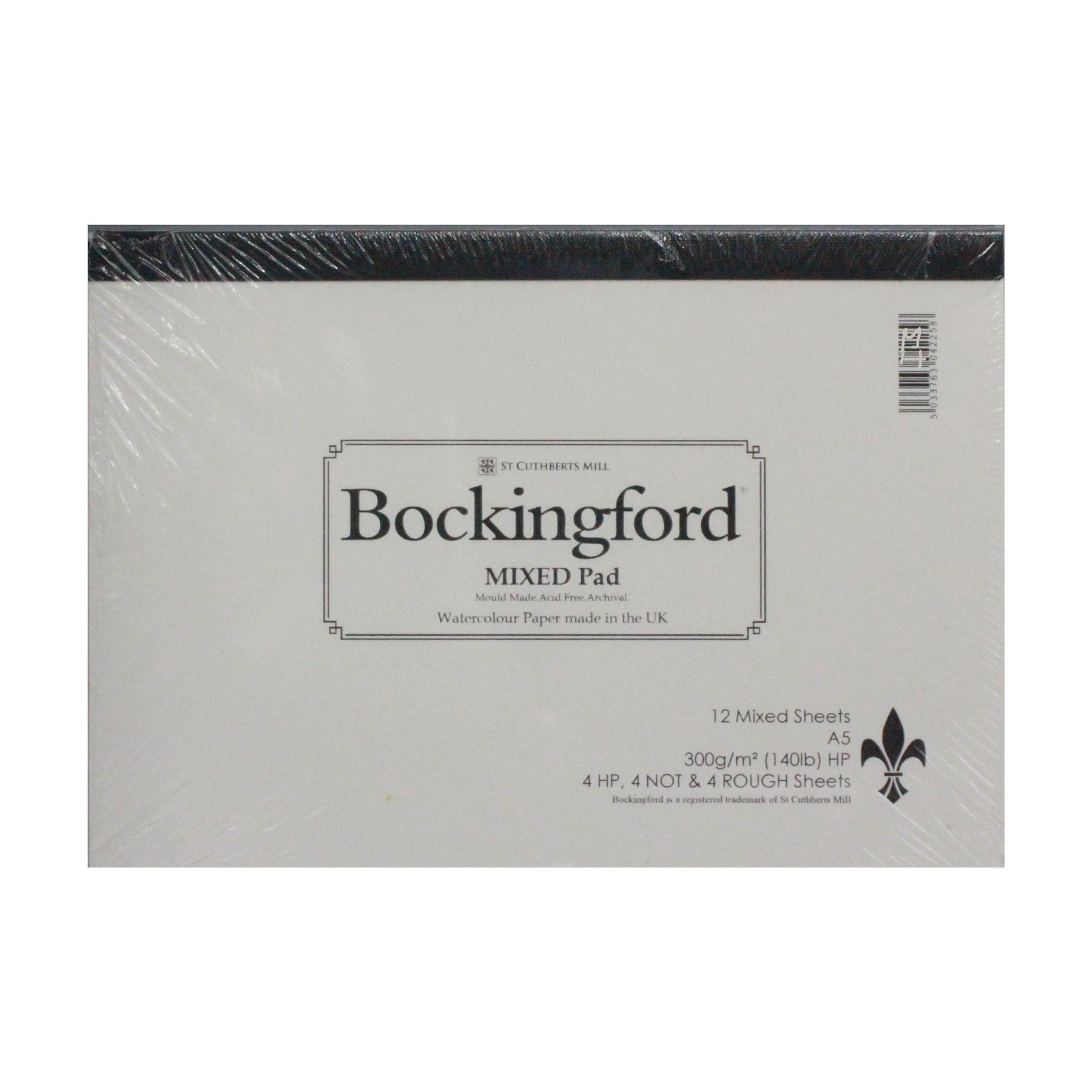 Bockingford watercolor paper pad A5 300gsm 140lbs