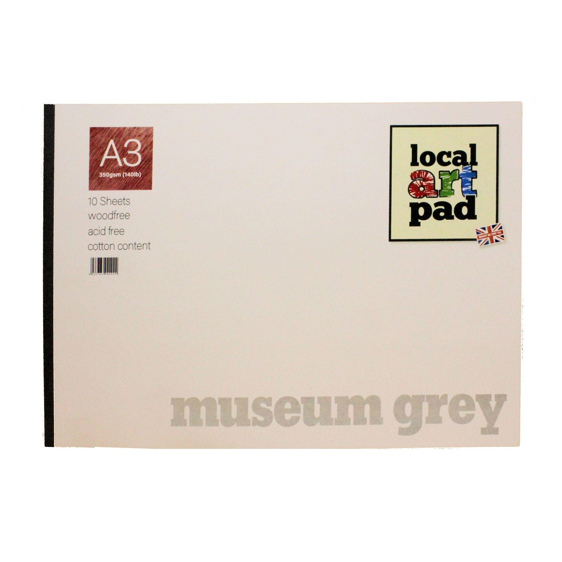 Local art pad A3 Museum grey 350 GSM paper pad