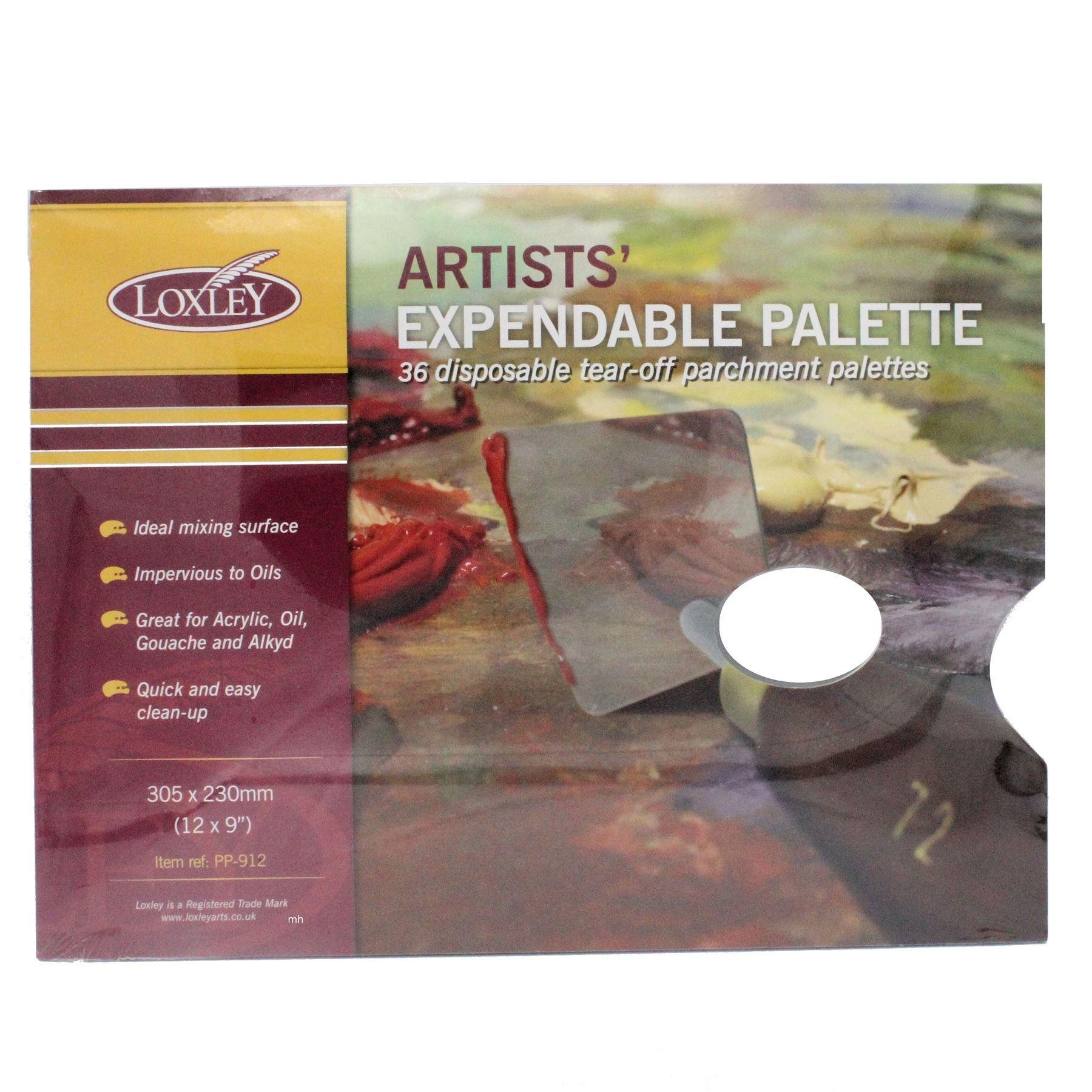 """Loxley Artists Tear Off Palette - for Oil, Acrylic paint 36 Sheets 9"""" x 12"""""""
