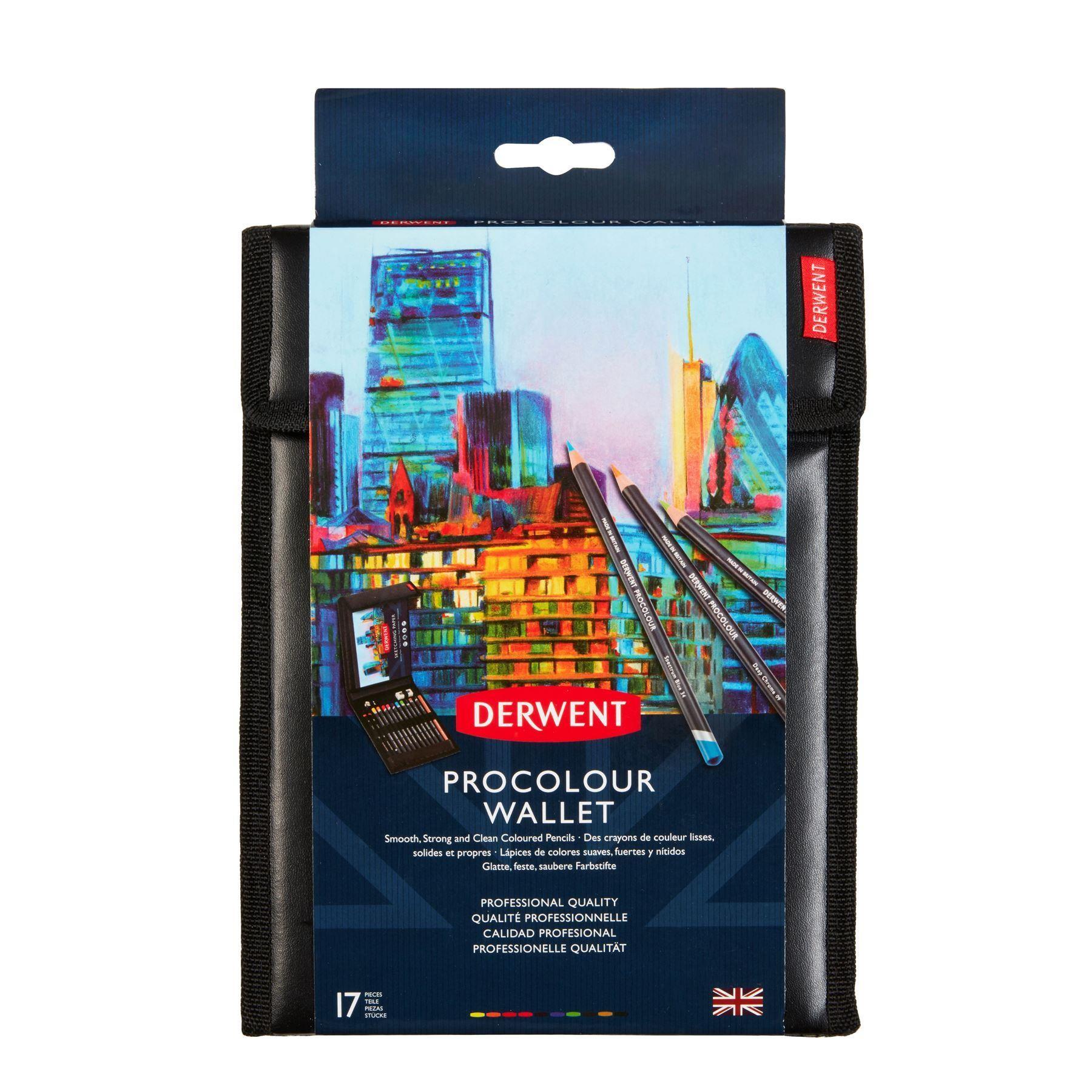 Derwent procolour wallet set for artists