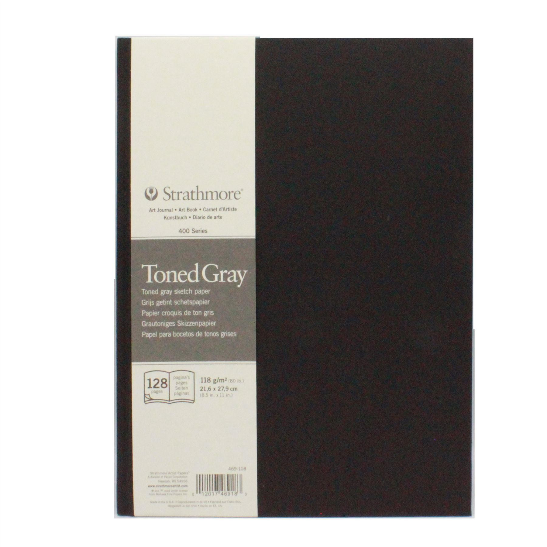 Strathmore 400 toned gray art journal grey art sketch book pad 21,6 x 27.9cm