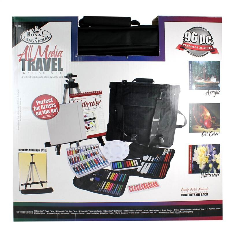 FA-202 all media aluminum easel gift set