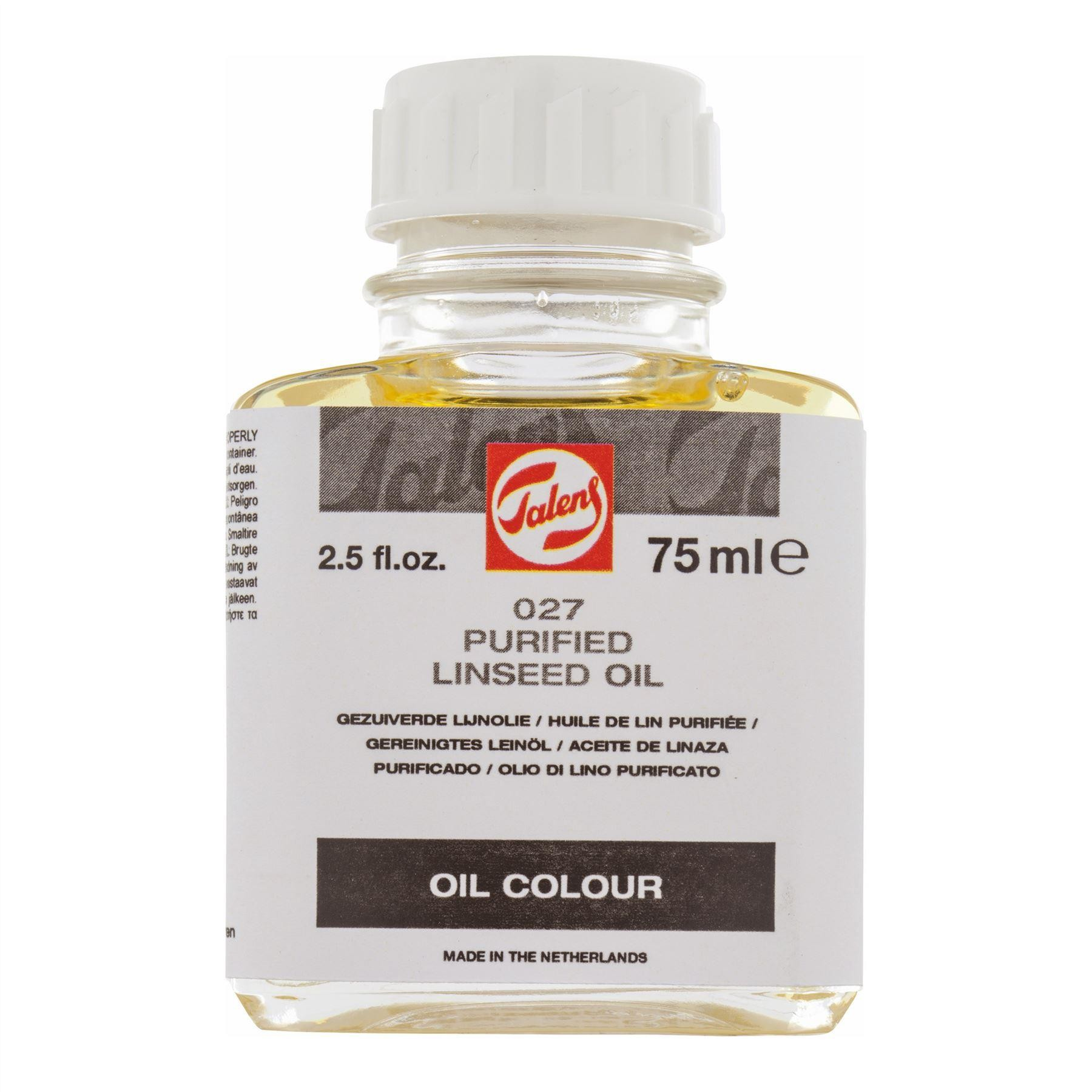 Purifed linseed oil 75ml bottle