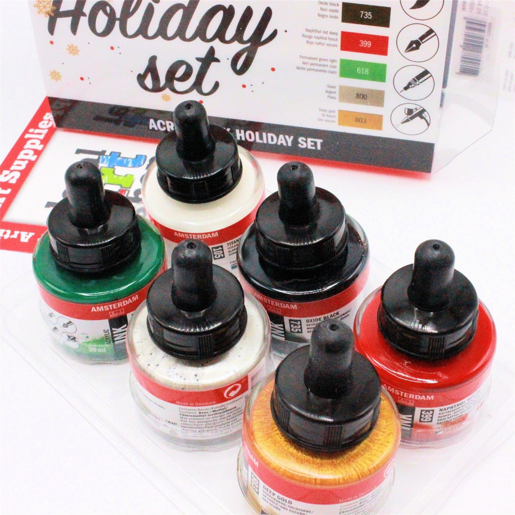 Amsterdam acrylic ink set holiday 6 x 30ml
