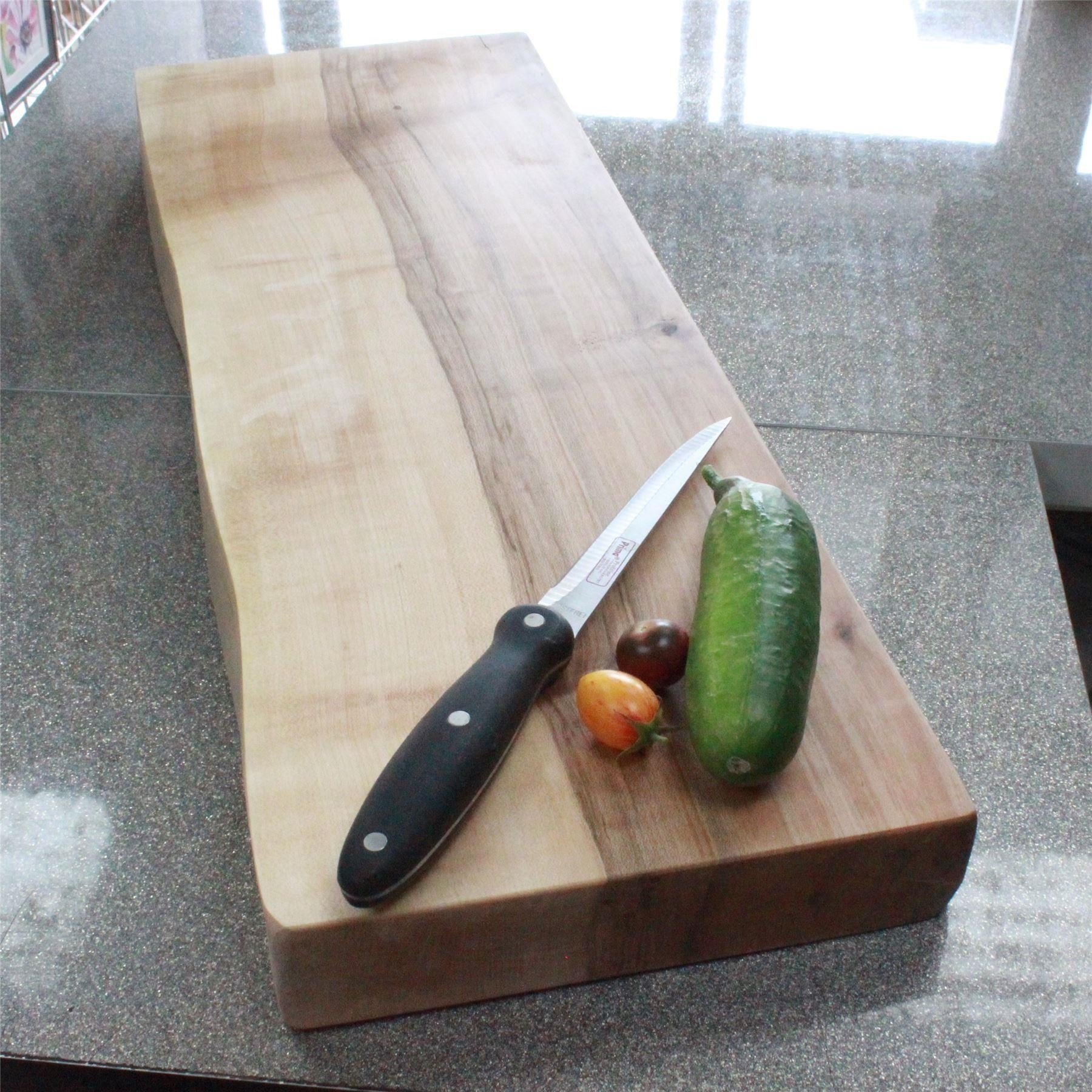 wooden chopping board one live edge thick solid Ash