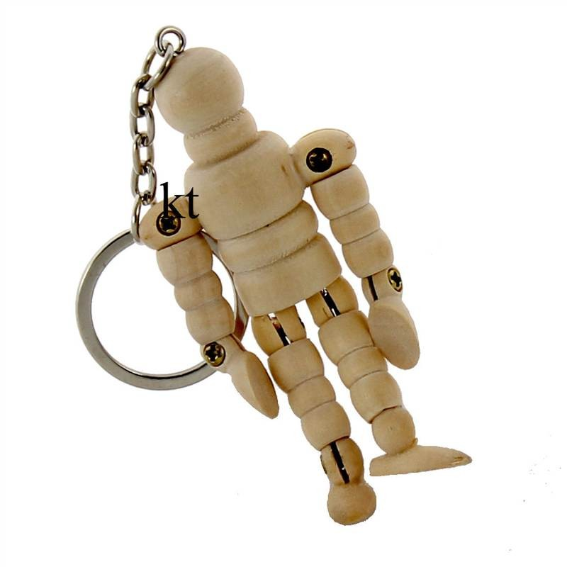 artists small wooden key ring lay figure