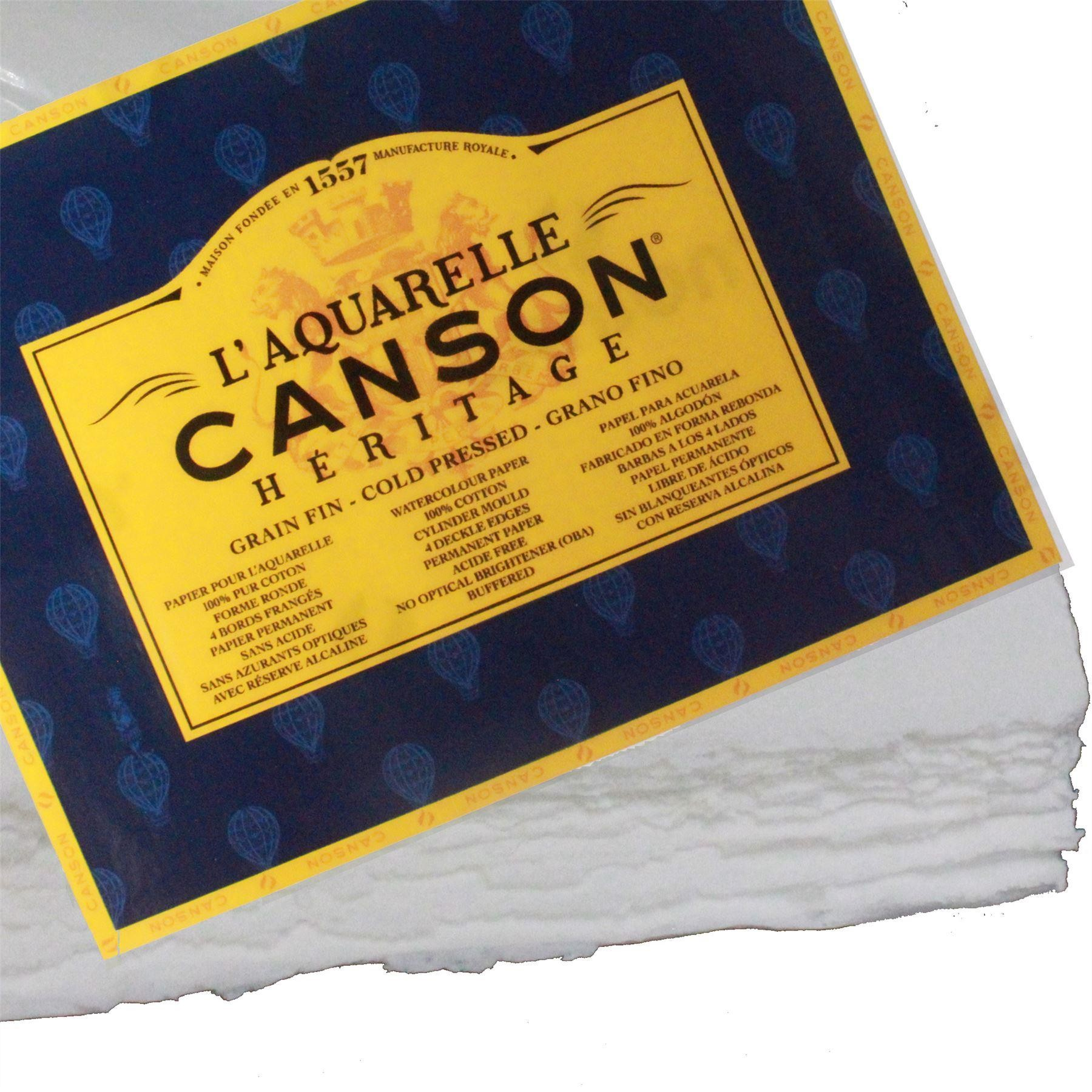 """Canson Heritage Sheets 15x11"""" 300gsm Cold Press imp x 4"""