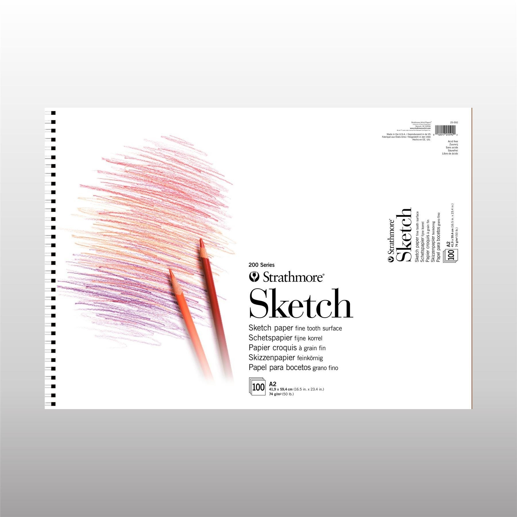 Strathmore series 200 drawing sketch paper pad A2 100 sheets 74gsm