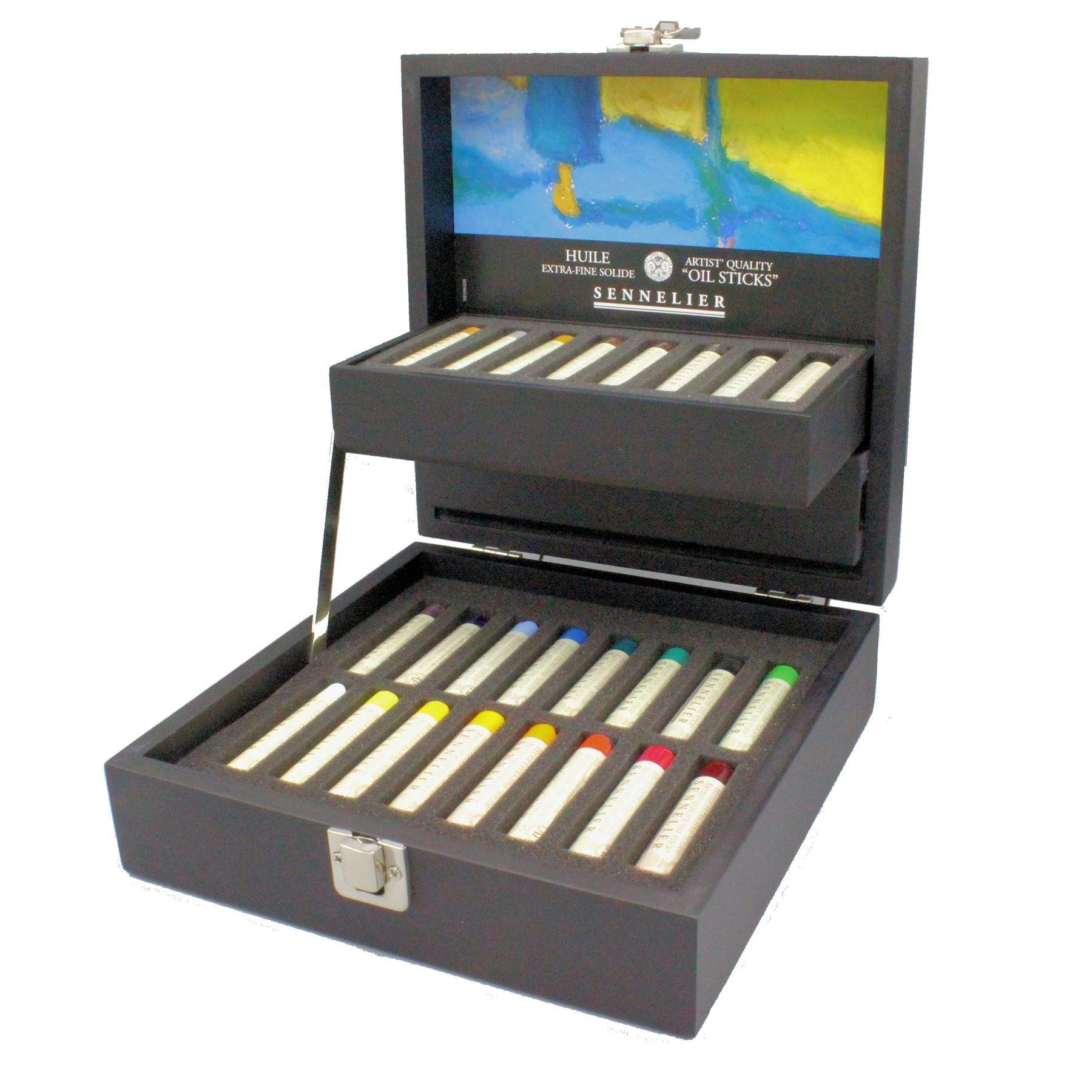 Sennelier oil stick mini wooden box set
