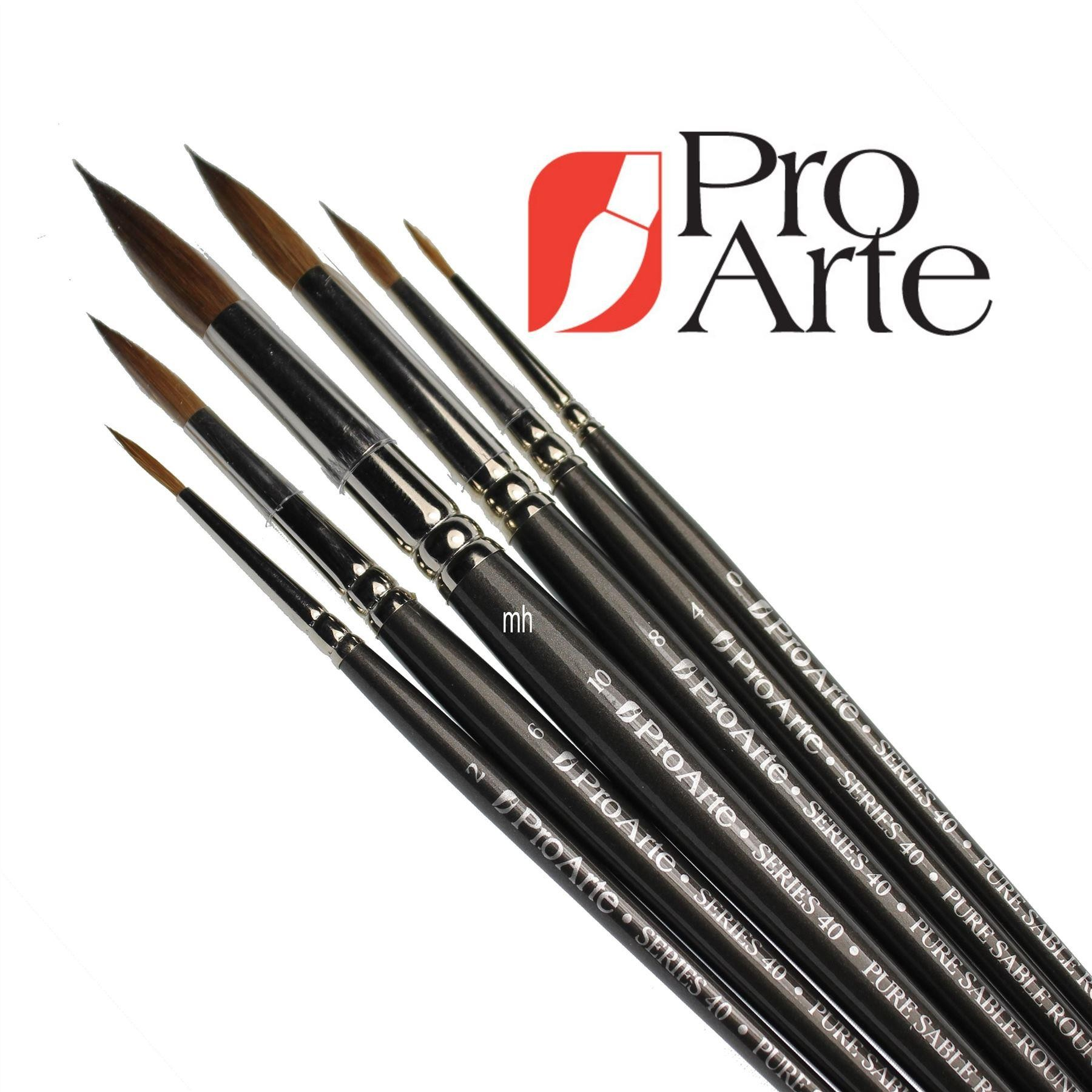 Pro Arte Series 40 Sable Brush Wallet set of 6 watercolour brushes