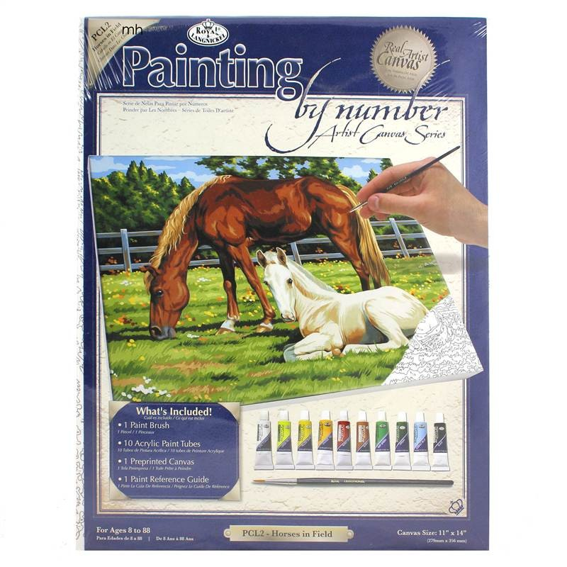 Royal & Langnickel Horses in Field Painting by Numbers plc2