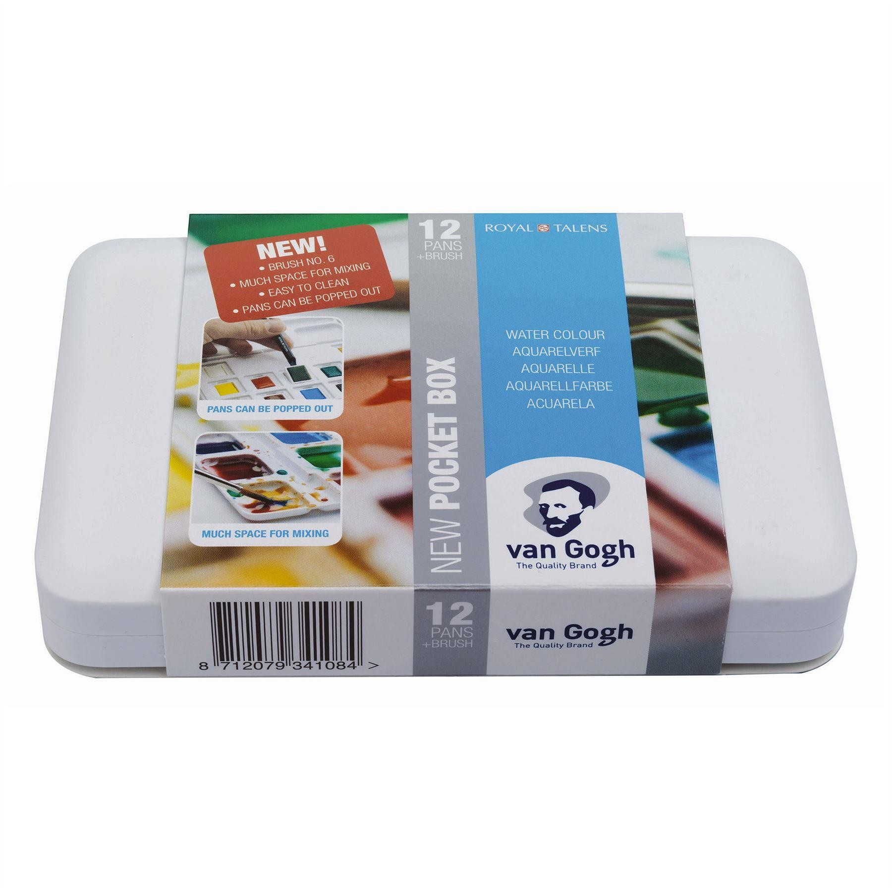 Van Gogh Water colour Set 12 half pans travel set