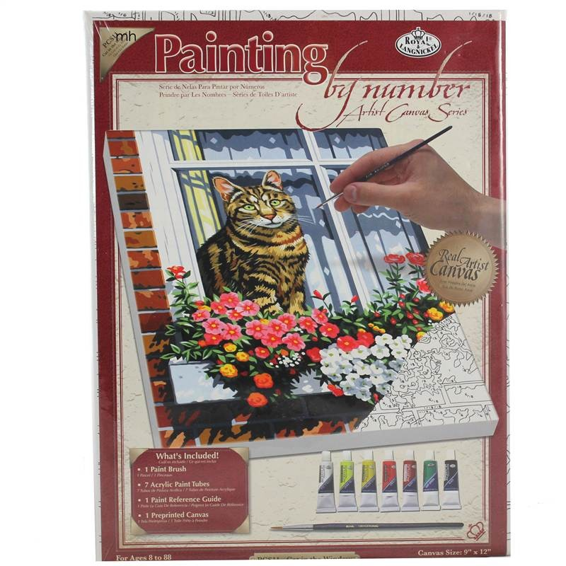 Royal & Langnickel Cat in the Window Painting by Numbers Artist Canvas Series