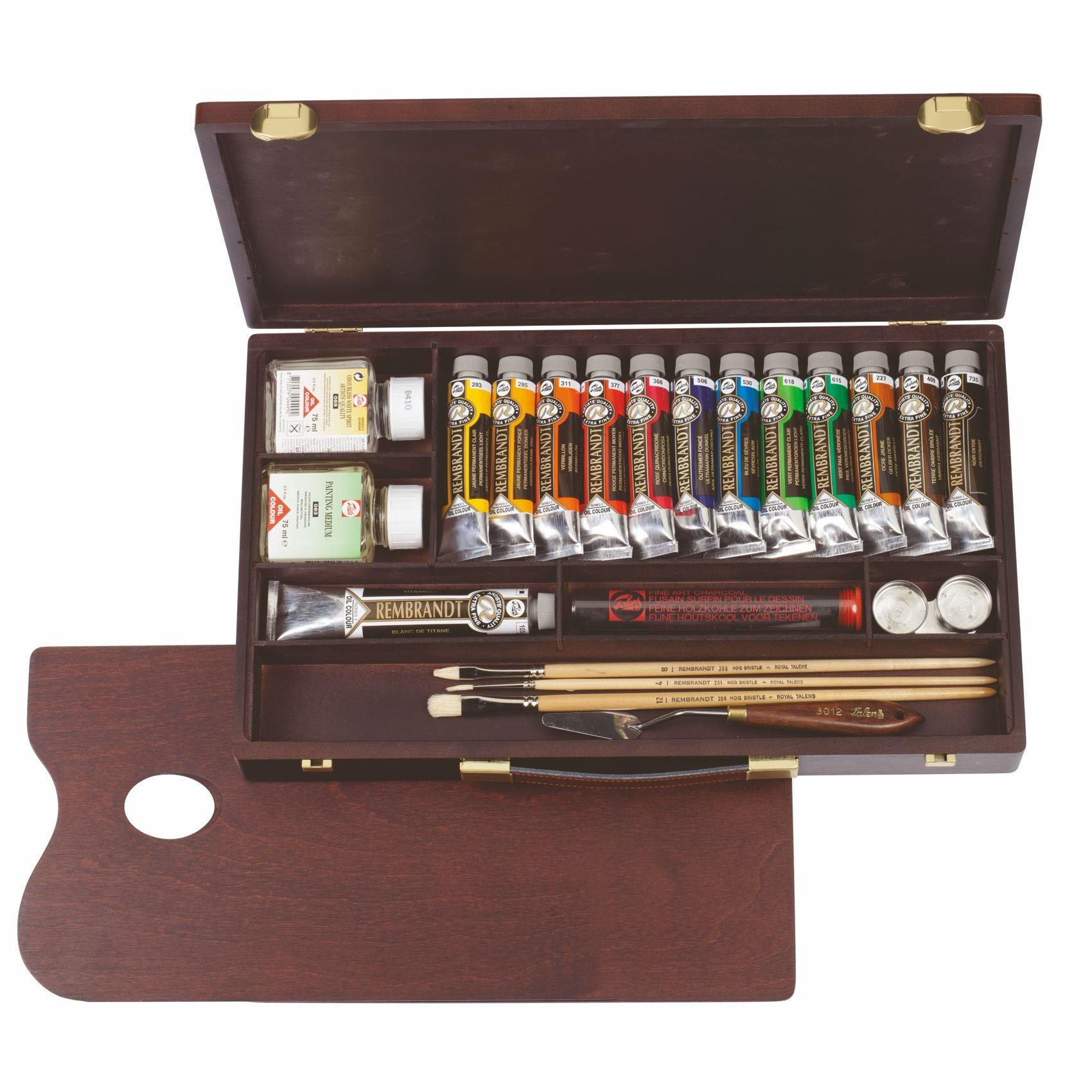 Royal Talens Rembrandt Oil Coulour Paint Wooden Box Professional