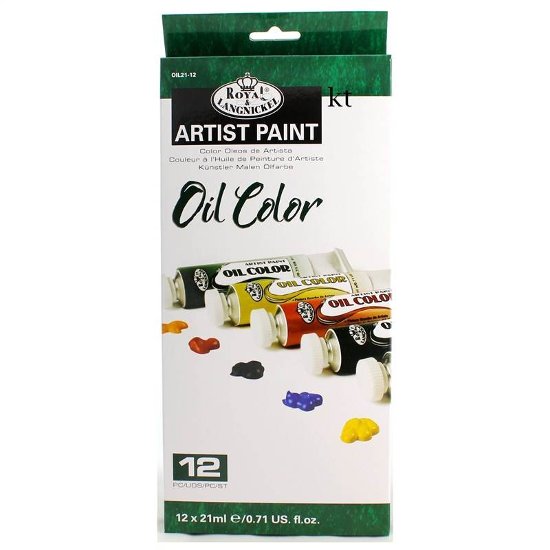 royal &Langnickel 12 oil paint tubes 12ml