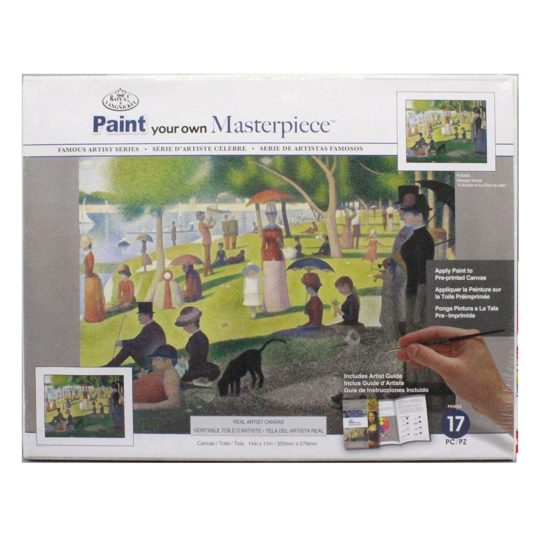Paint your own Masterpiece Georges Seurat A Sunday on La Gran de Jatte Royal & Langnickel