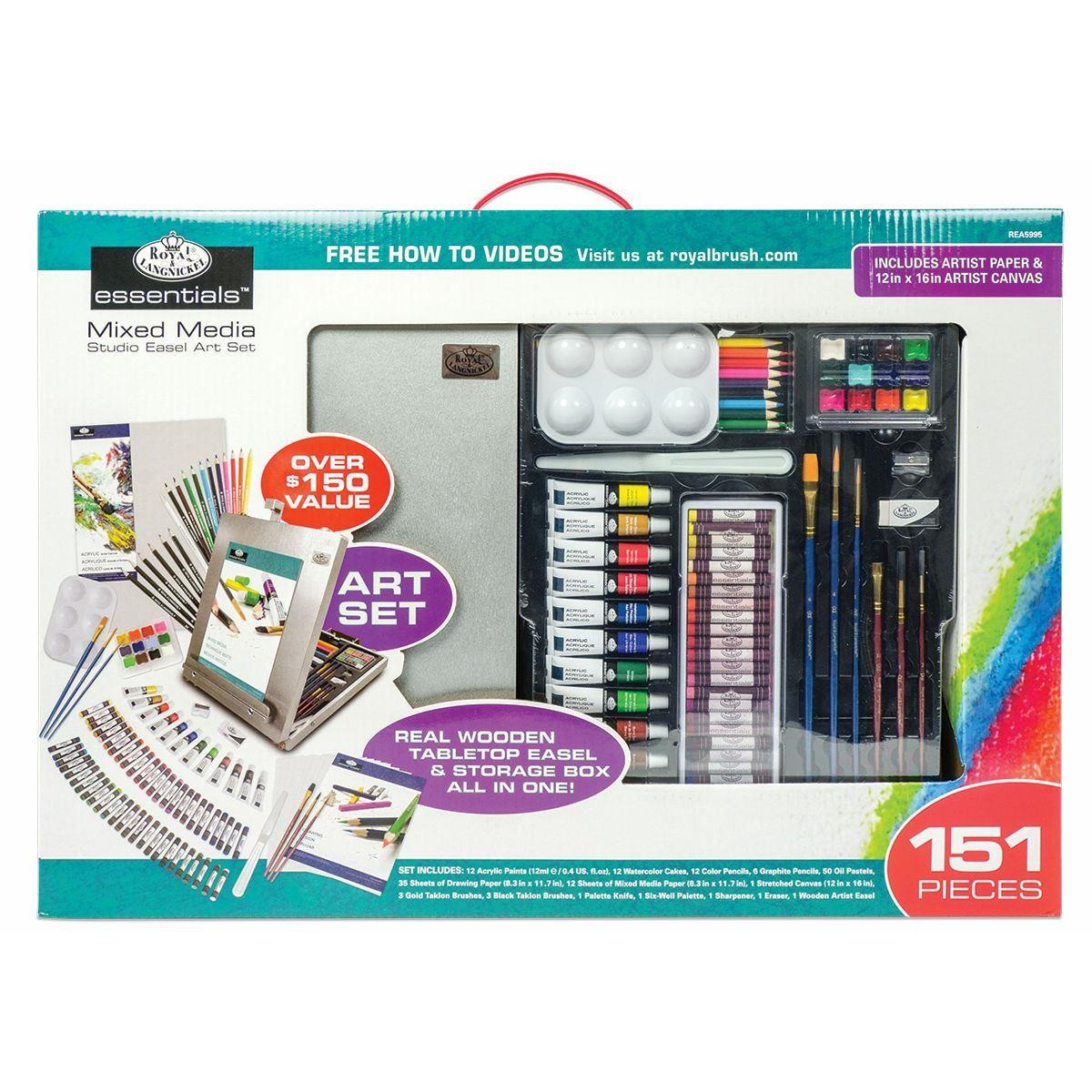 royal & Langnickel mixed media studio art set with 151pc