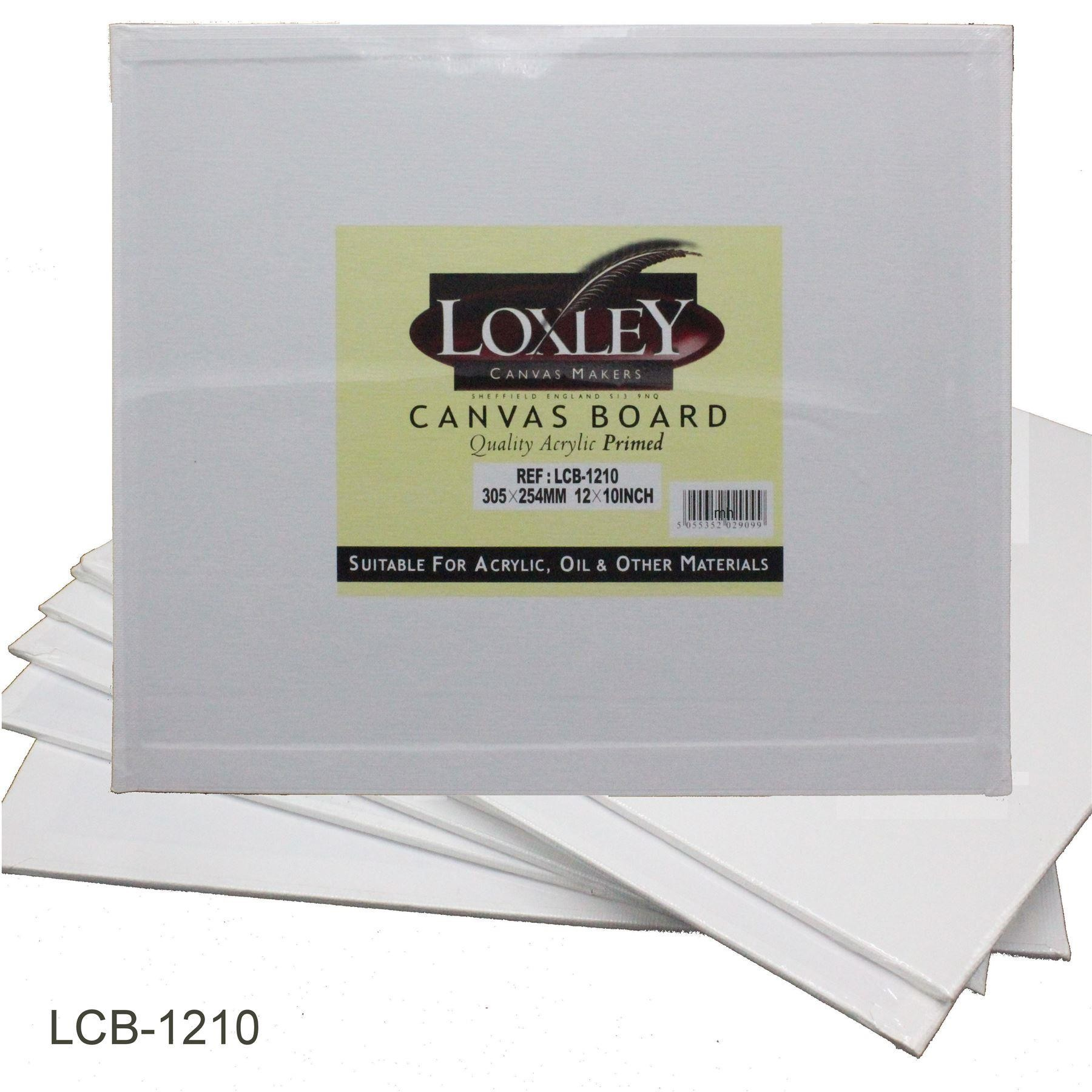 "Double Primed Acrylic Canvas Board from Loxley - 12"" x 10"""