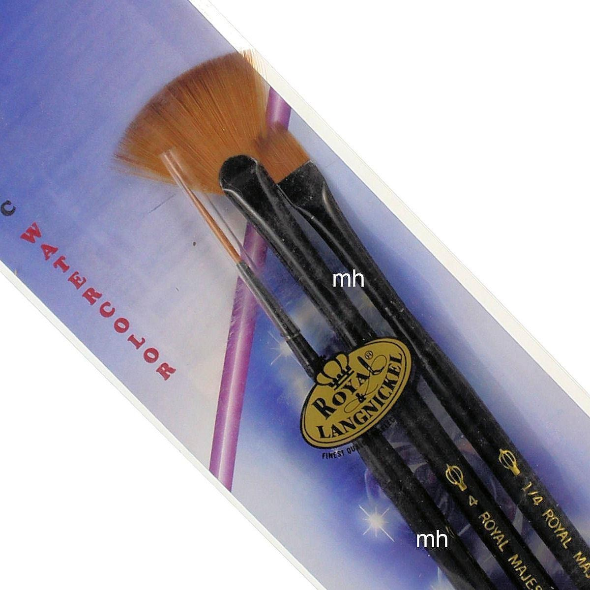 "Royal & Langnickel Comb 1/4"", Script 1, Fan 4 Majestic Brush Set RMAJ-106"