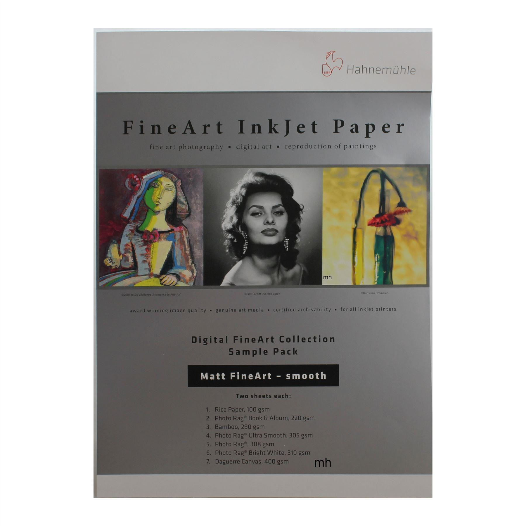 inkjet fine art print paper sample pack matt
