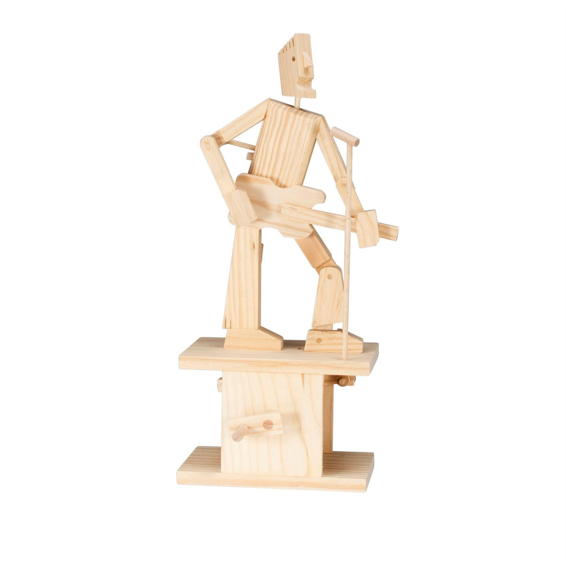 Timberkits Guitarist wooden model flatpack kit