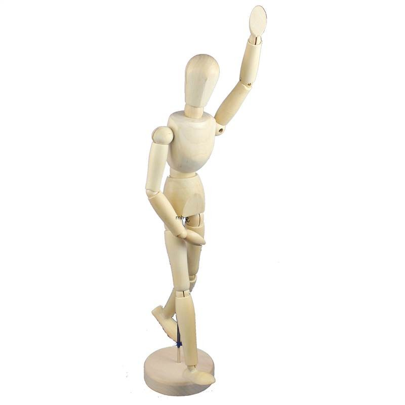 Jaker 12 inch jointed wooden mannequin for artists