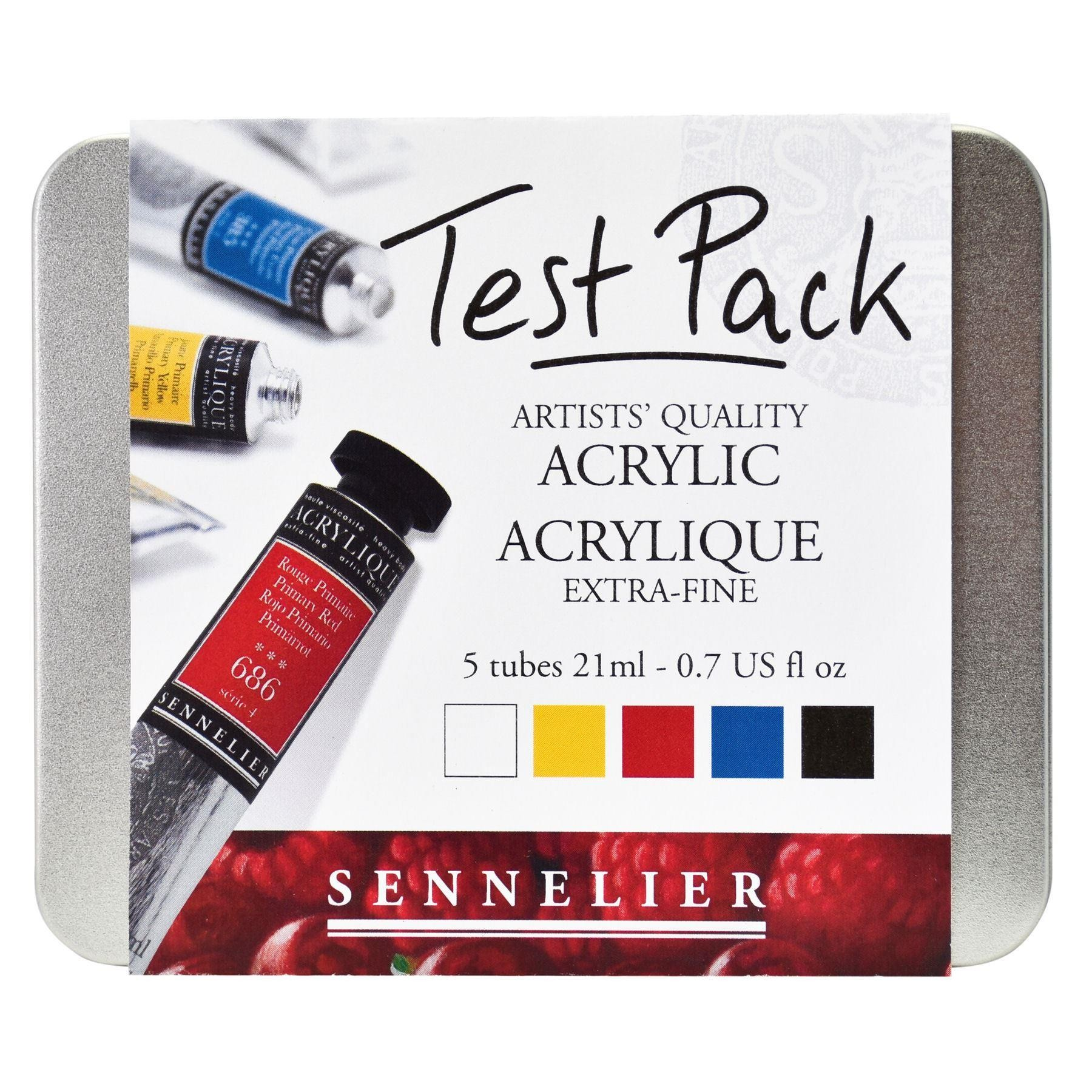 Sennelier extra fine artists acrylic paint test pack