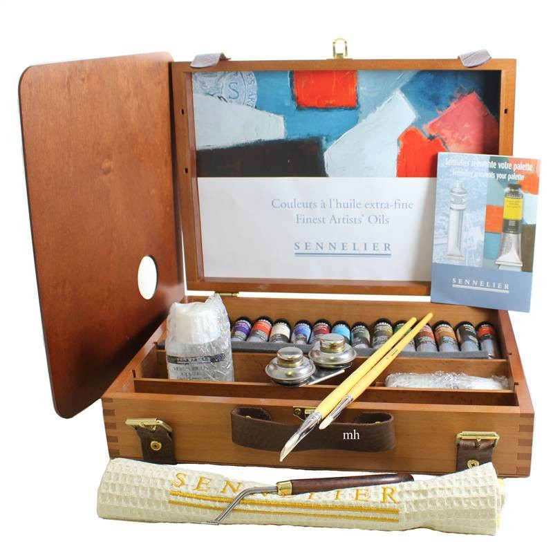 Complete oil paint set sennelier artist paint