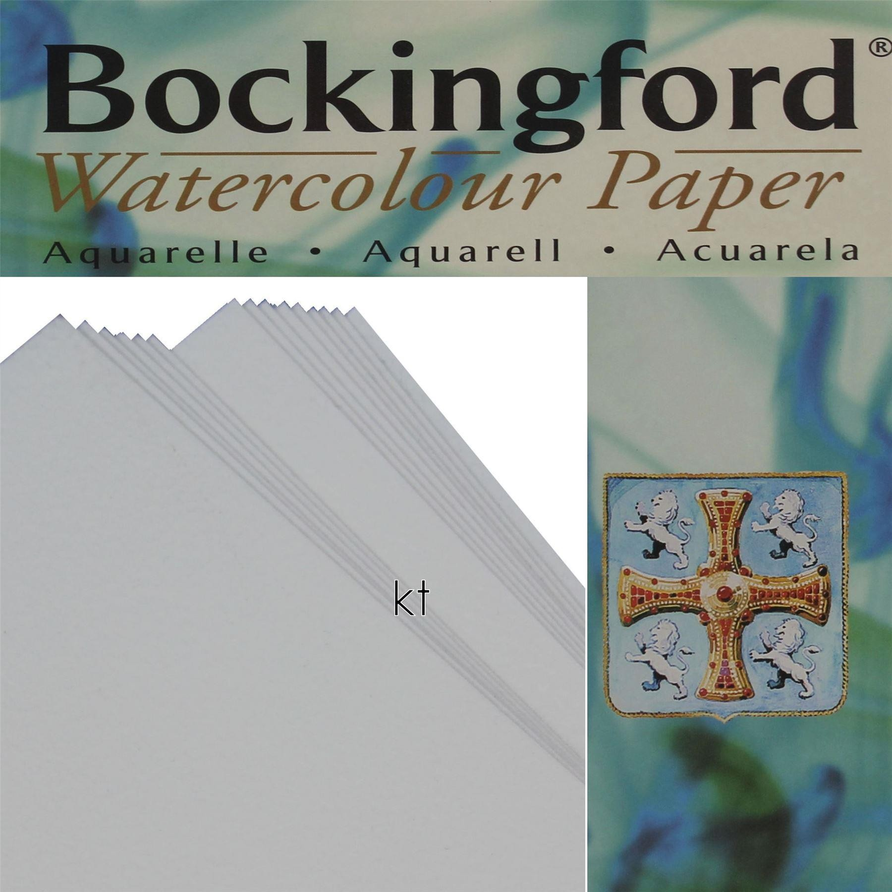 "Bockingford 4 sheets 15"" x 11"" Hot Press watercolour paper 300gsm"