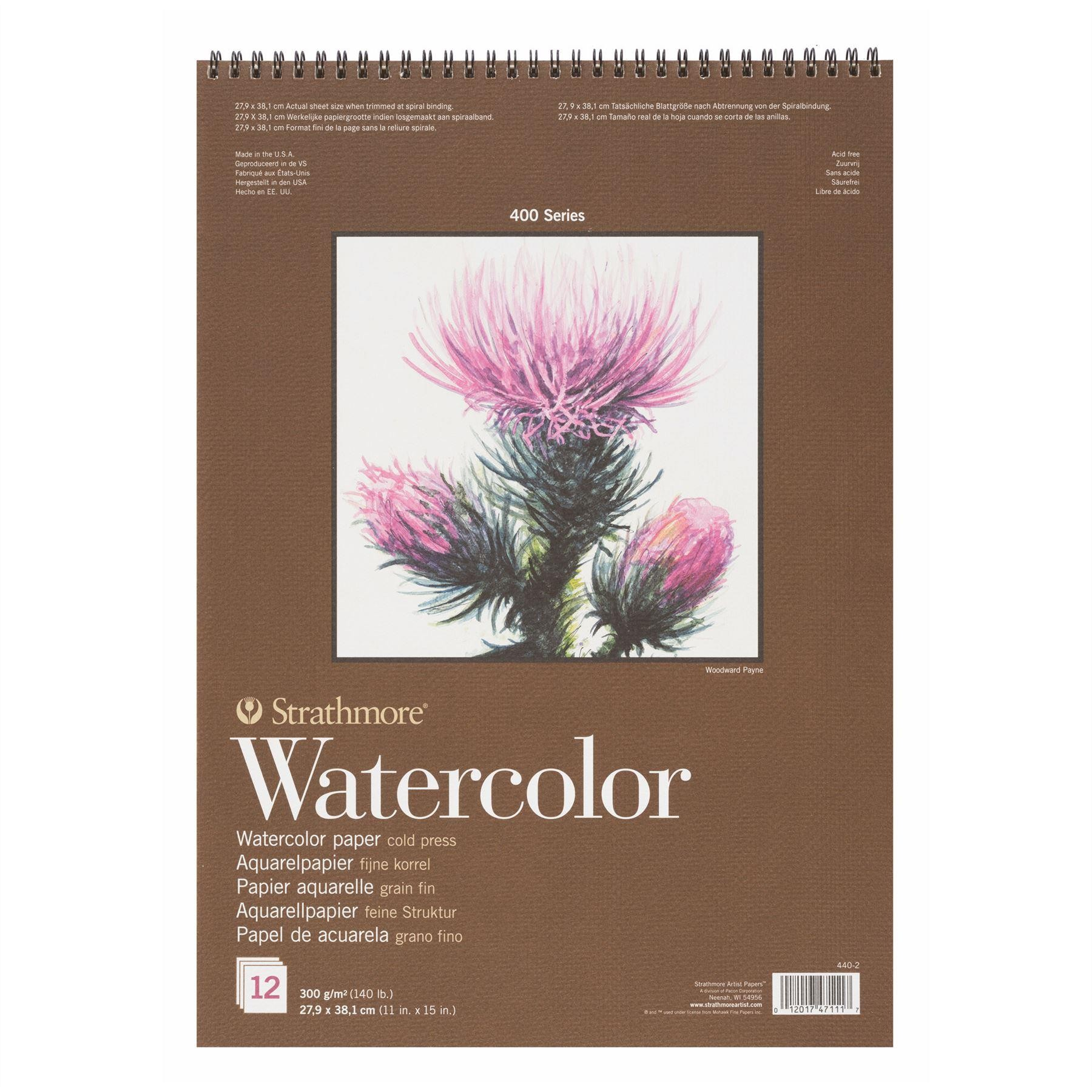 Strathmore 400 watercolour pad 27,9 x 38,1 12 sheets 300gsm