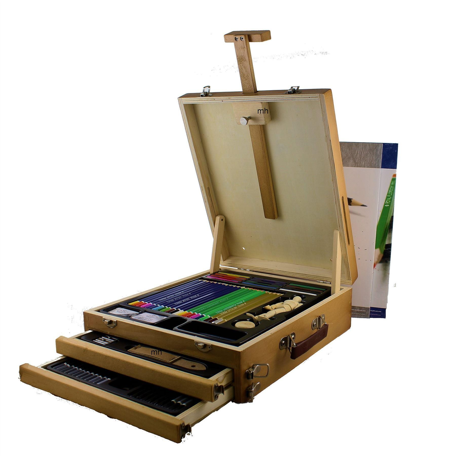 Royal & Langnickel Drawing Sketching Easel Set 124 Pieces REA6250