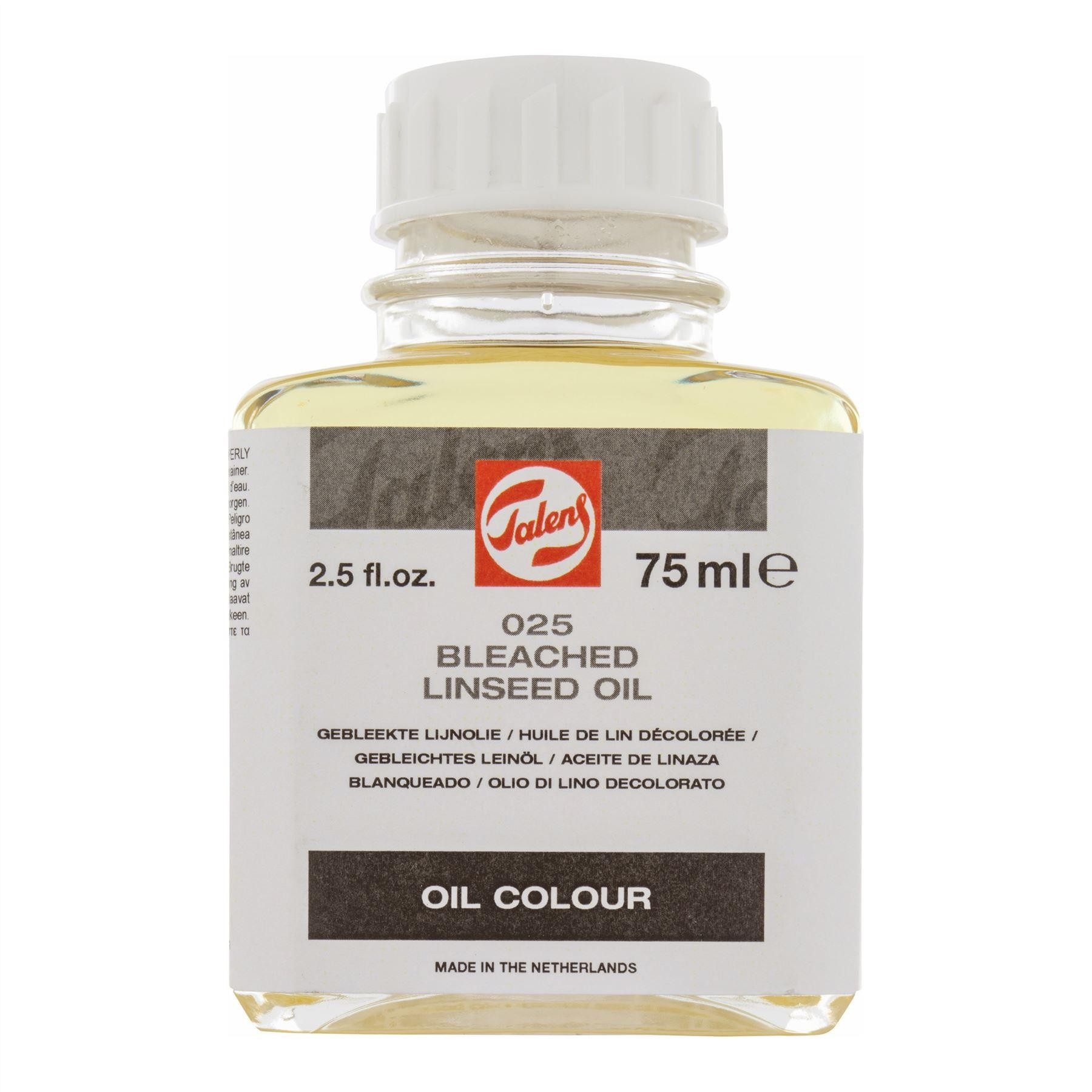 bleached linseed oil 5 mL painting medium Talens