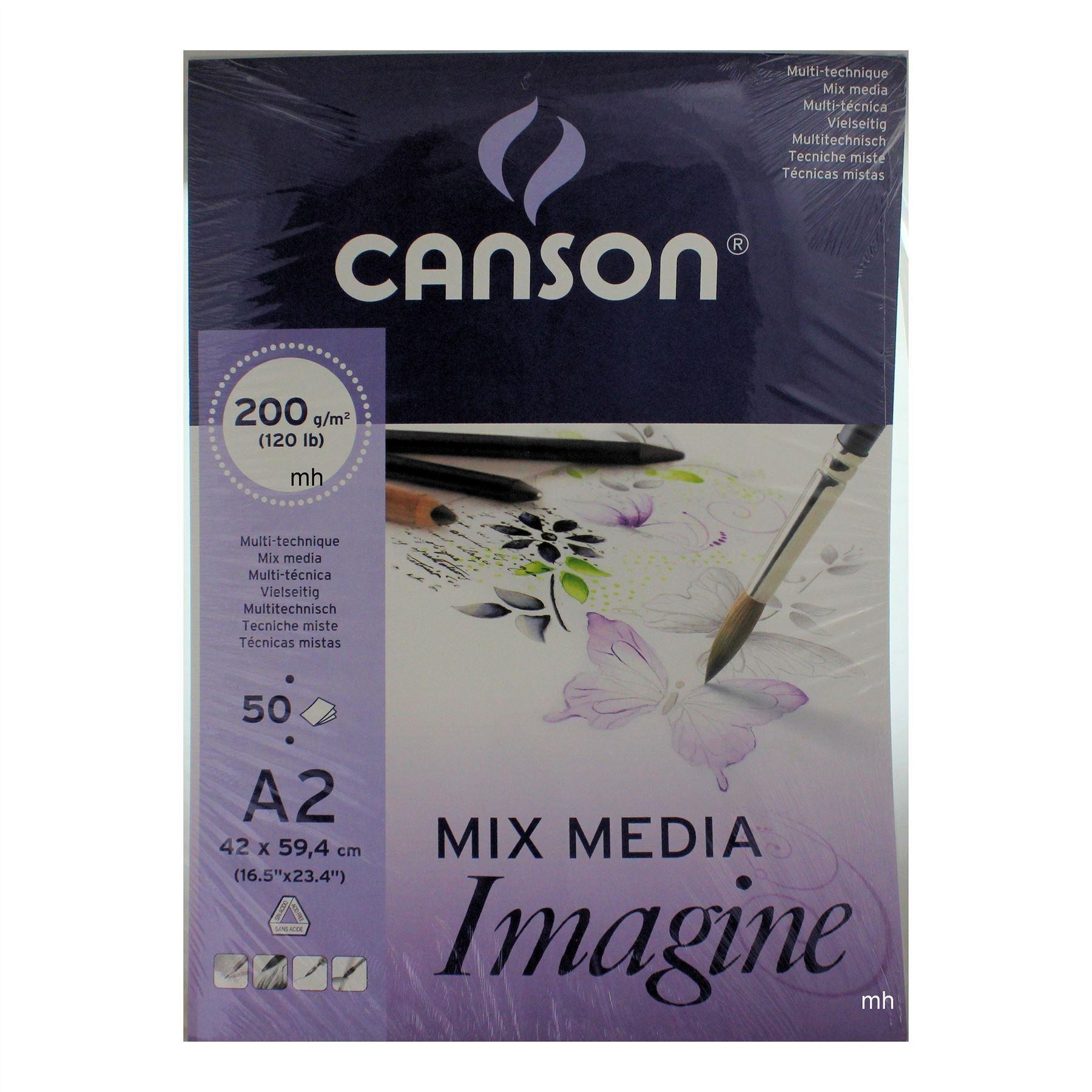 Canson  Mixed Media imagine Pad A2 200gsm 50 Sheets