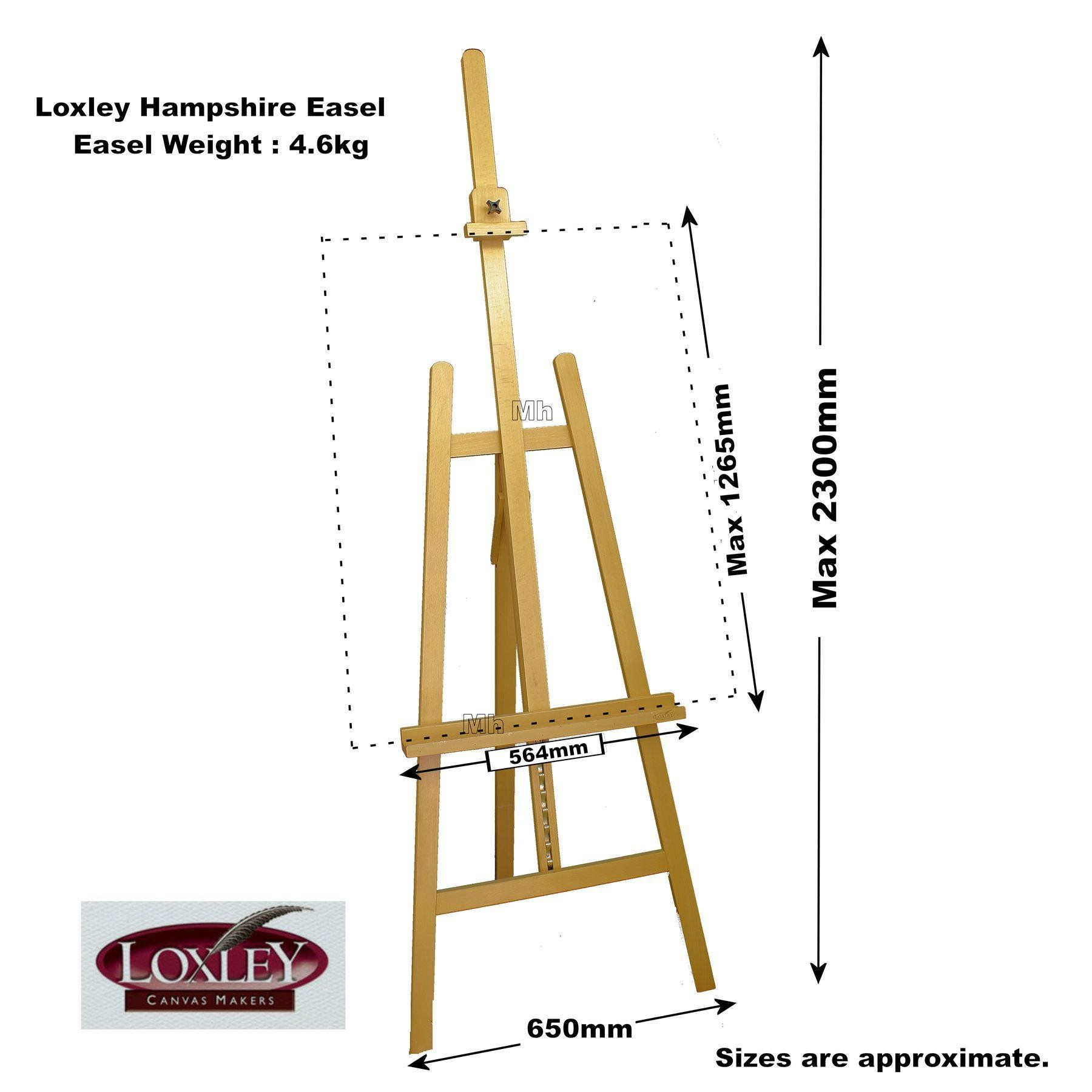 Loxley hampshire easel with size localartshop