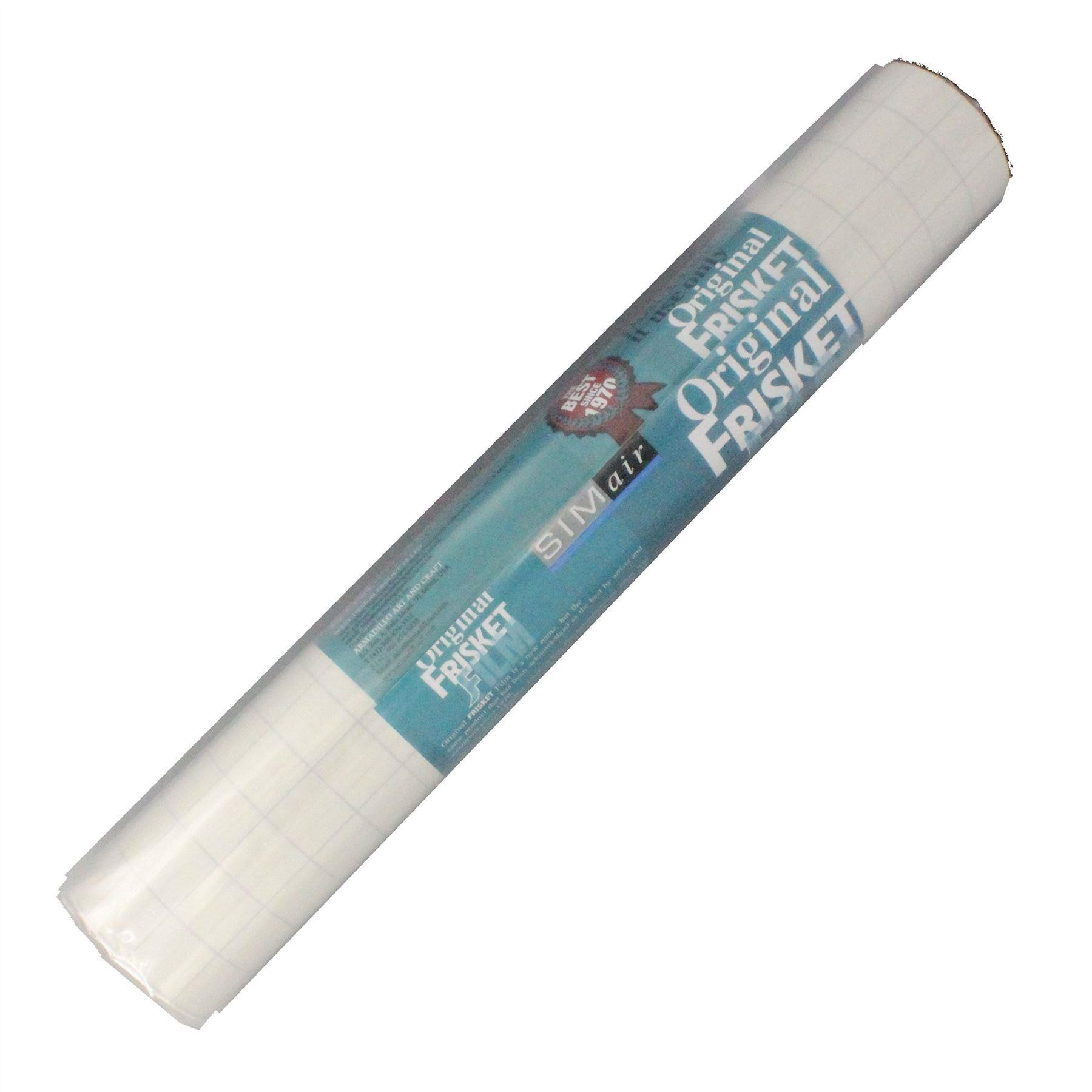 """spray paint masking out low tack film frisket 15"""" x 4 yards"""
