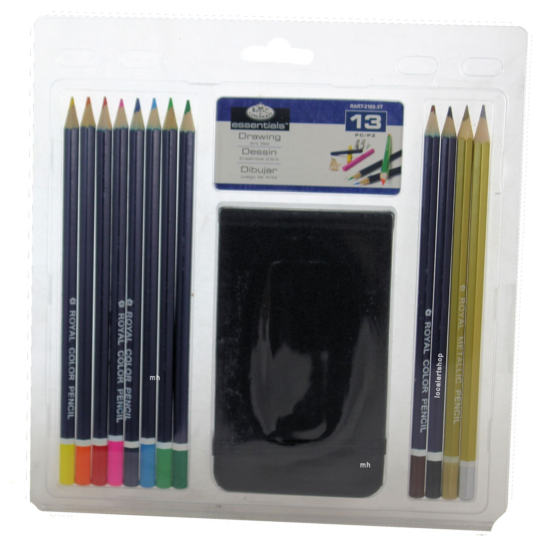 Royal & Langnickel Drawing coloured pencil pad 13 Piece Art Set