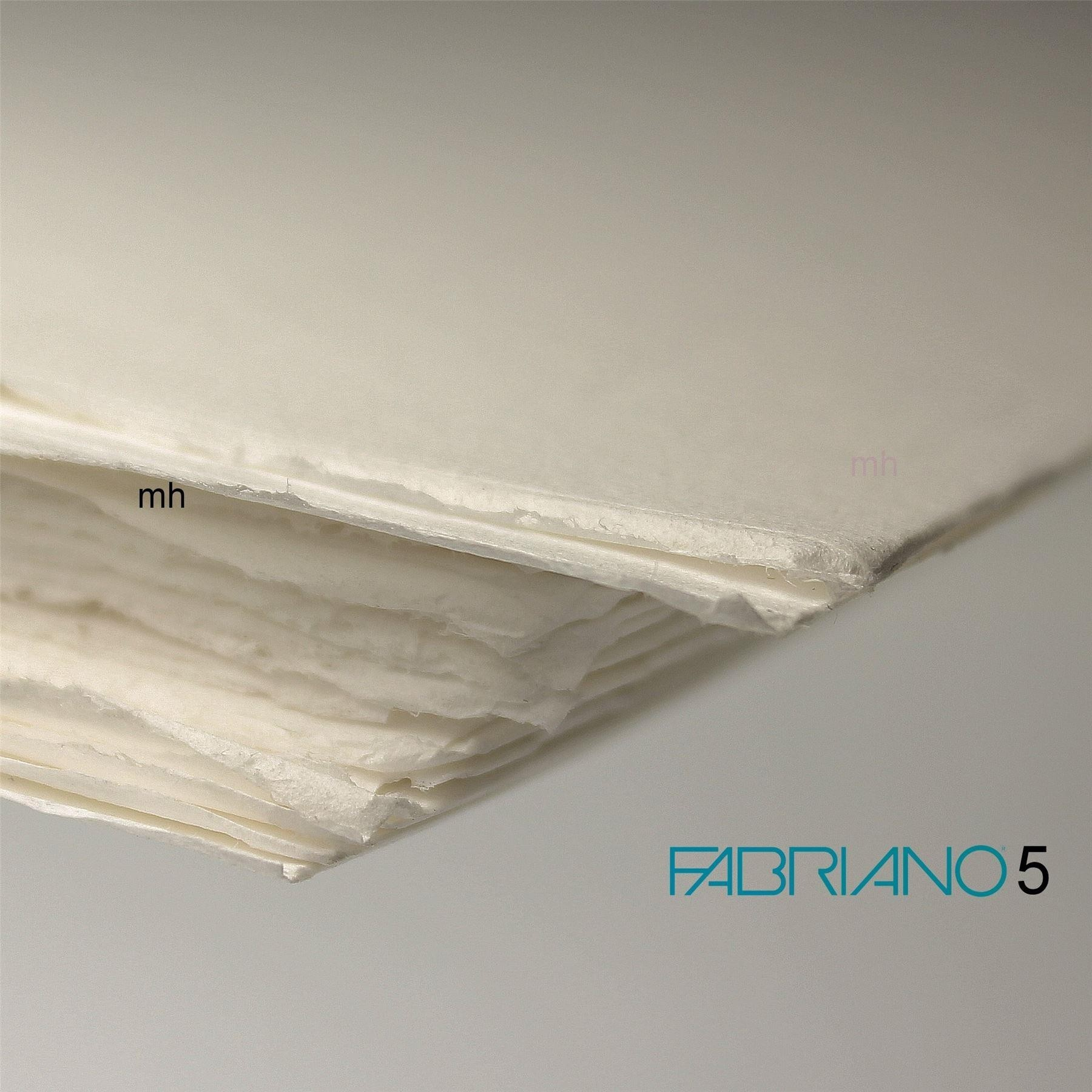 Fabriano 5 Cold Press Mould made, 50% cotton, 2 x 50cm x 35cm. 300gsm (140lbs)