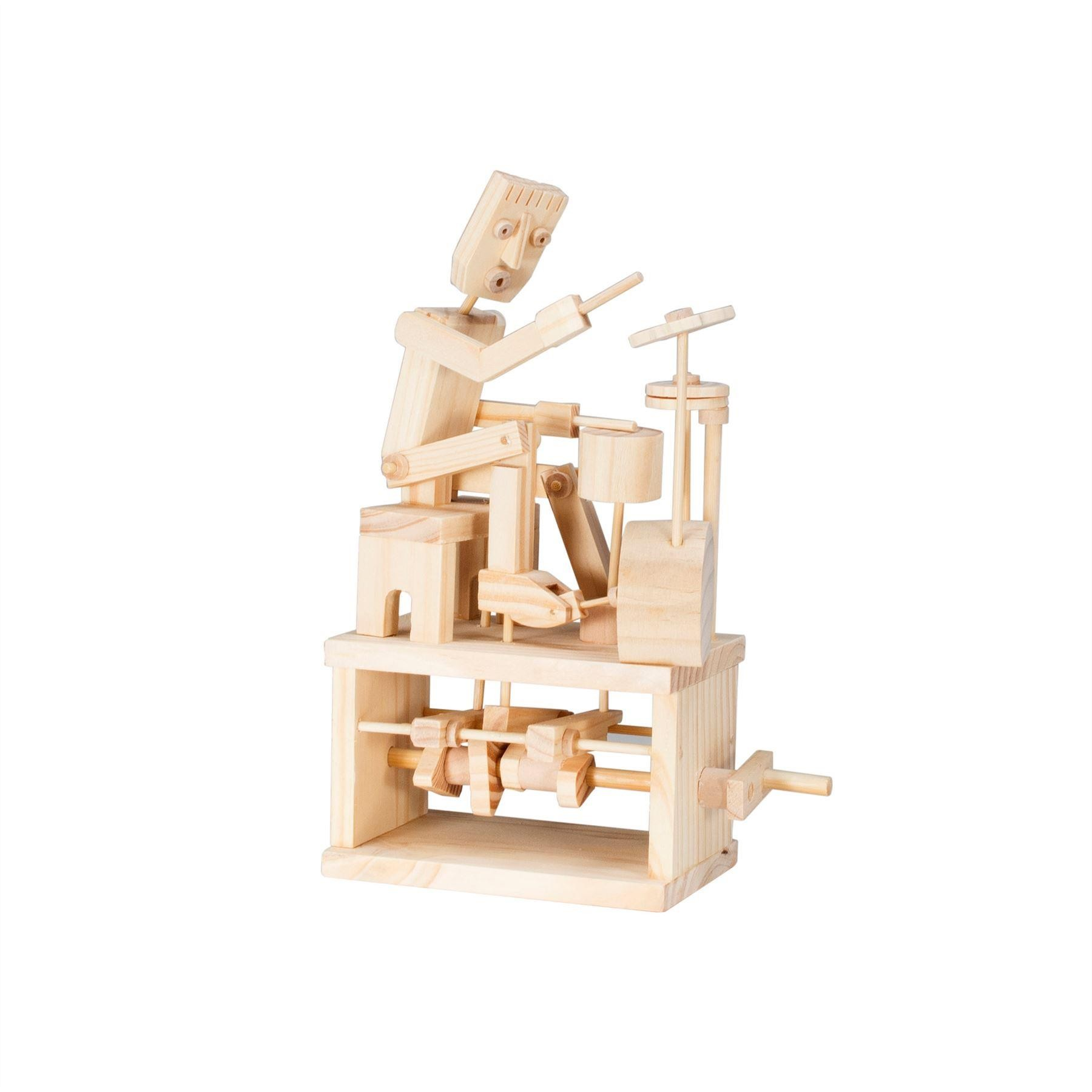 Timberkits drummber wooden model flatpack kit