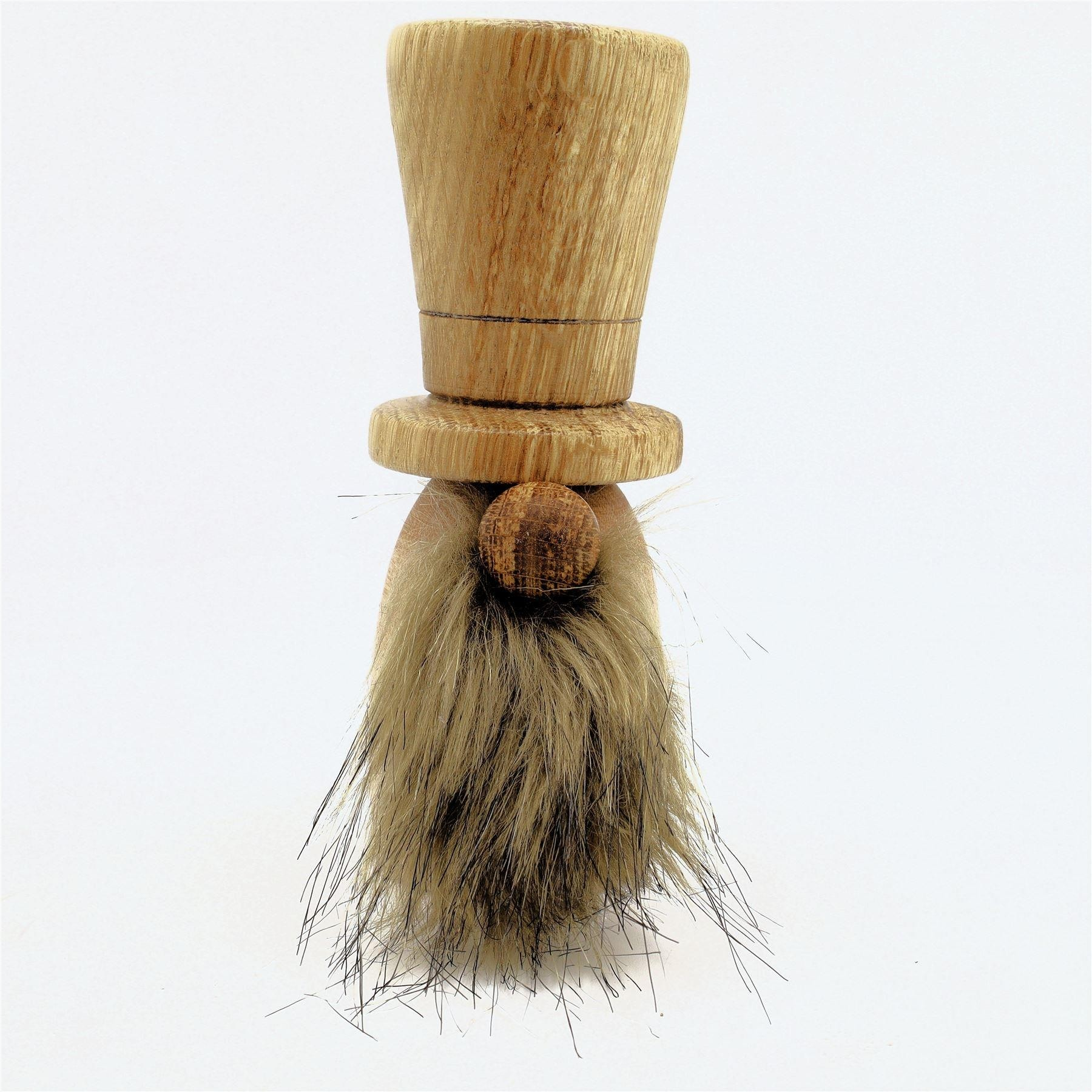 Wooden hand turned gonk Tycho tall top hat oak and ash