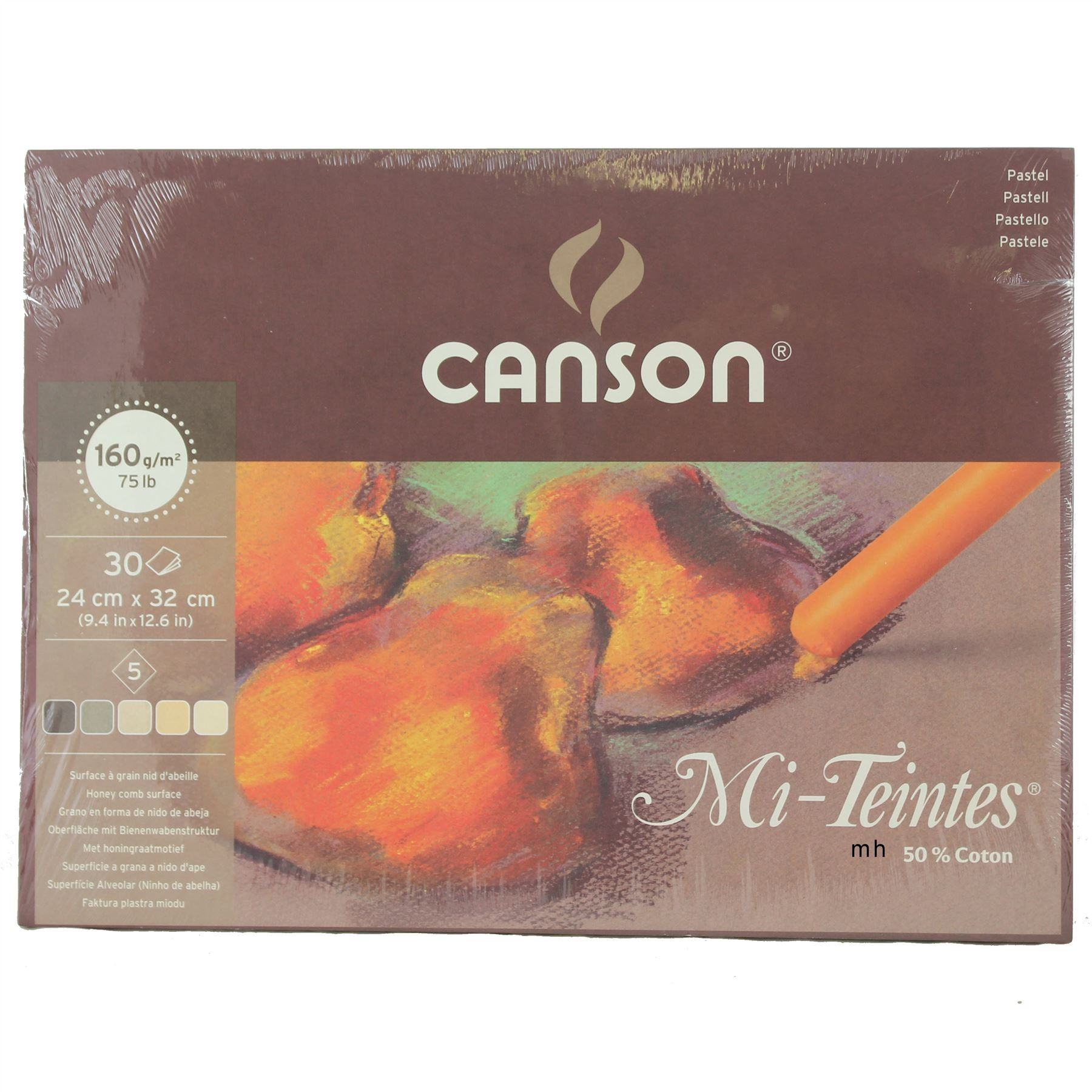 Canson Artists quality pastel paper pad Mi Teintes Earth tones