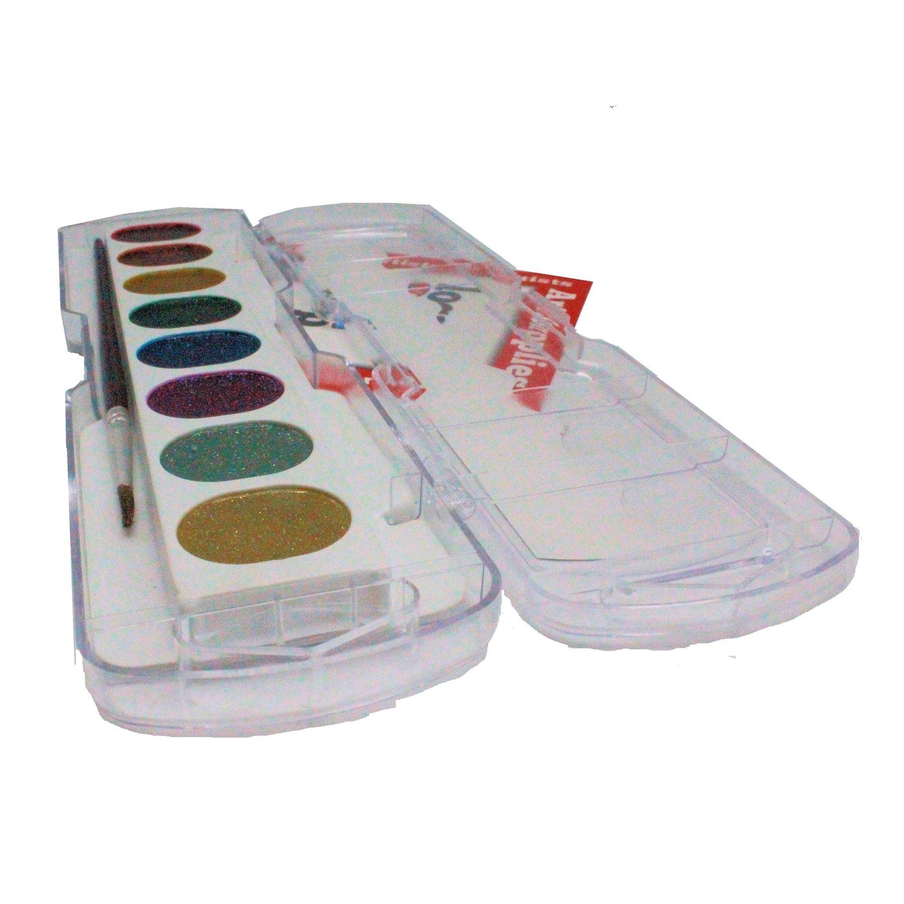 Fila Giotto 8 Aquerelli glitter watercolour block plus paint brush