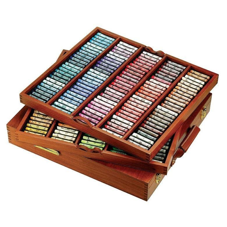 Sennelier royal selection soft pastels  wooden box set