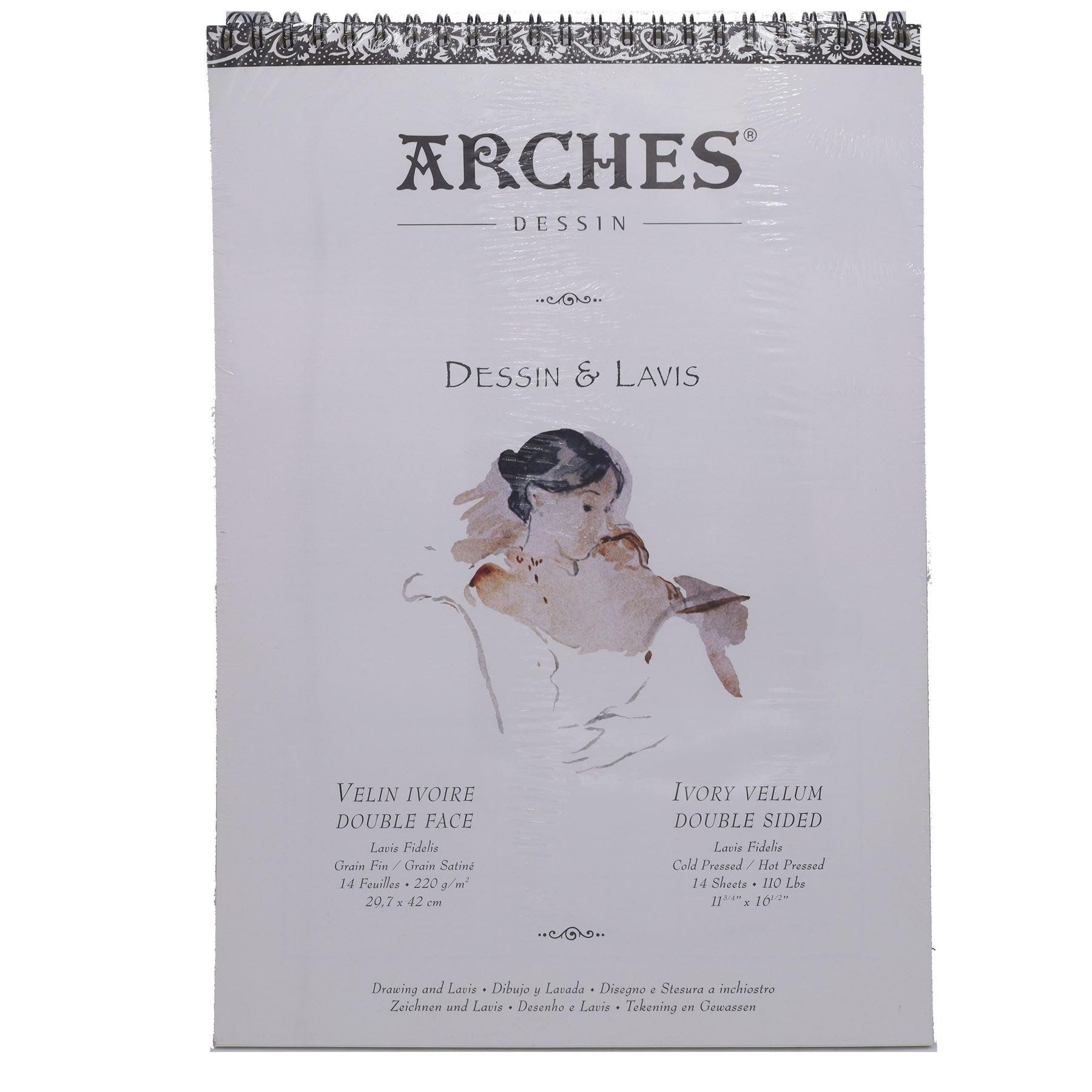 Arches Dessin & Lavis A3 drawing pad Ivory vellum
