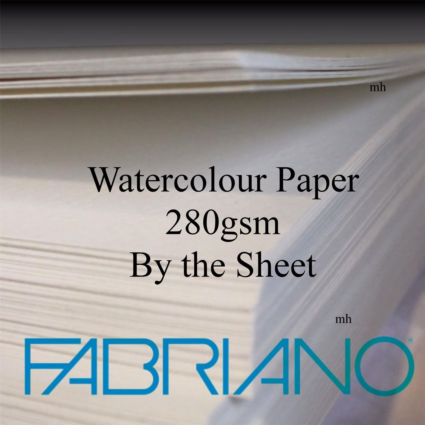 "Fabriano Standard 22""x15"" 280gsm (130lbs) Cold Pressed 2 sheets"