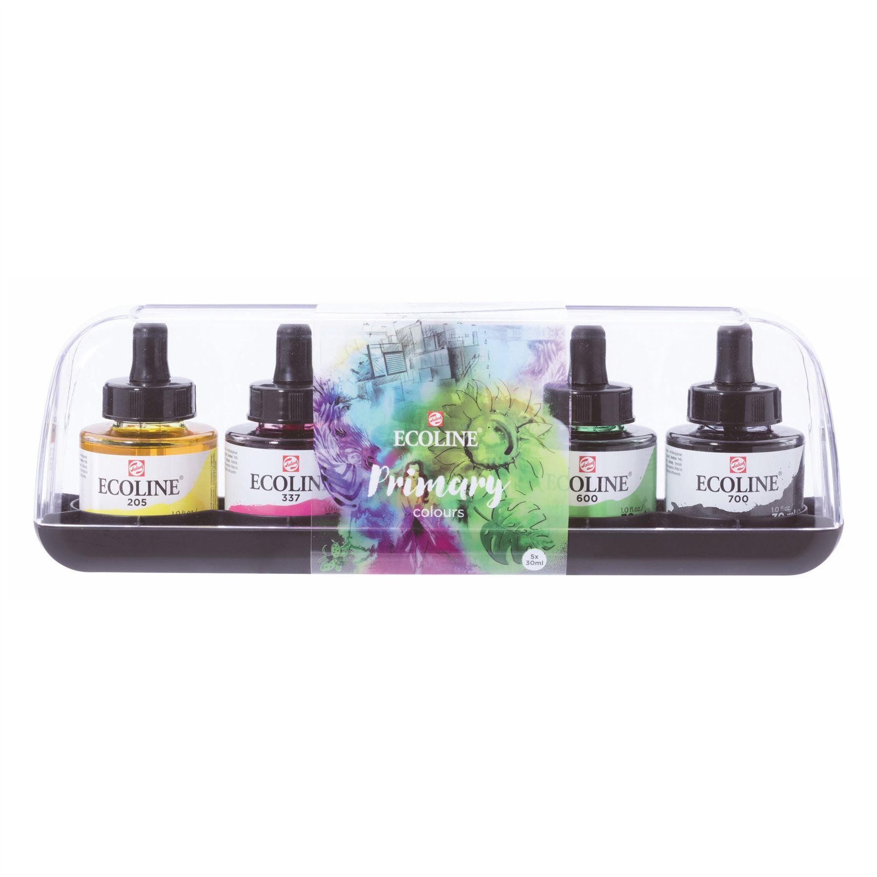 Talens ecoline liquid watercolour primary set