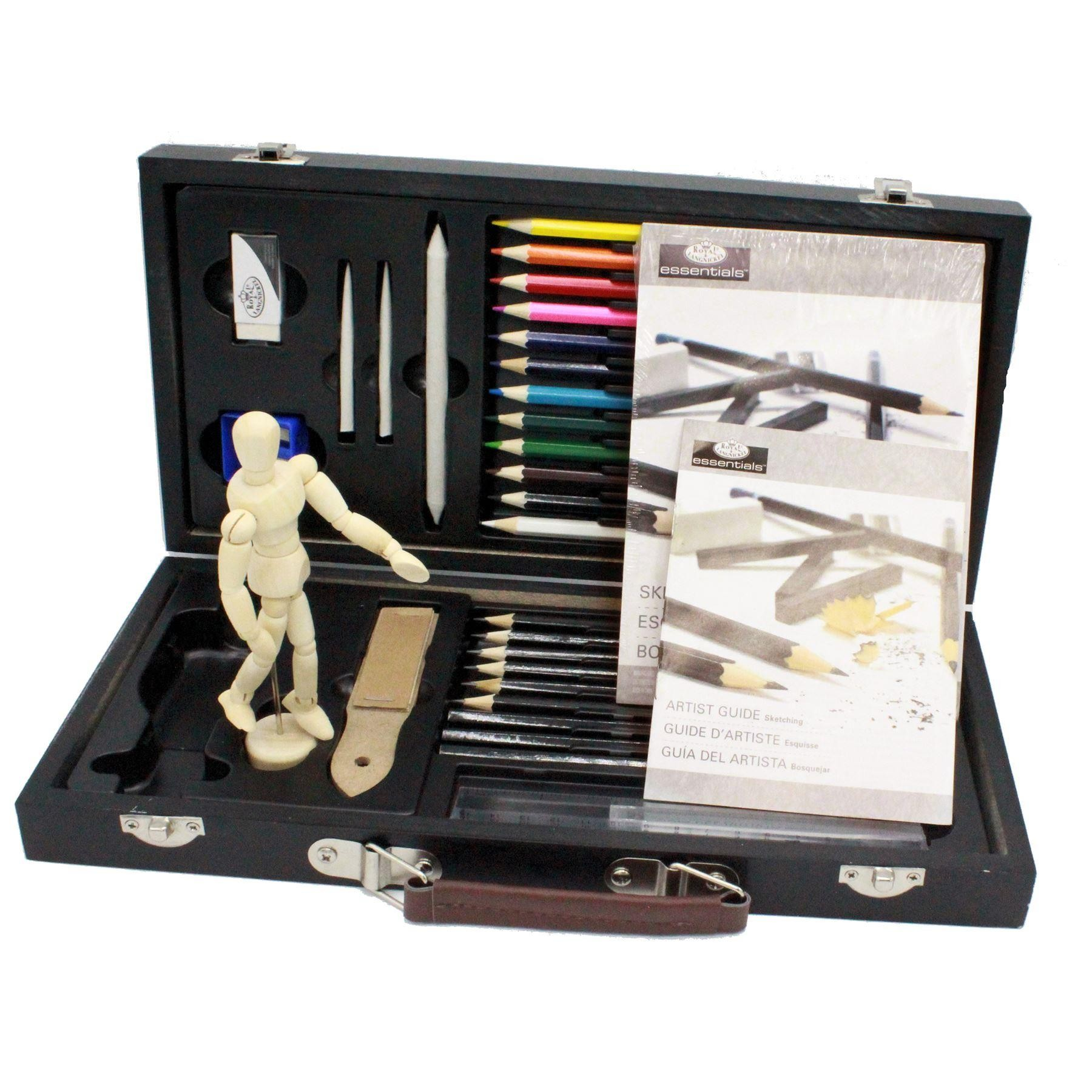 graded graphite drawing pencil manikin coloured pencils starter set