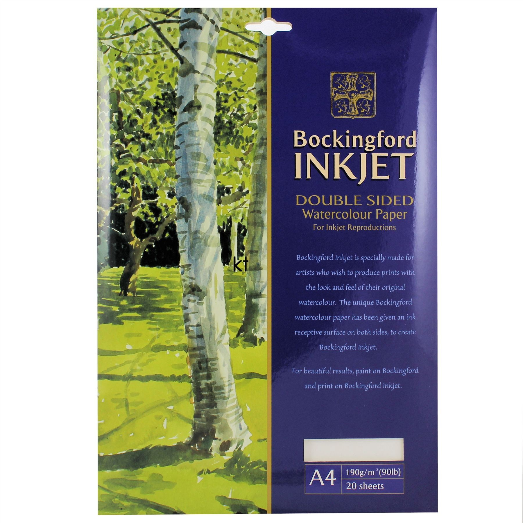 Bockingford Inkjet Double Sided Watercolour Paper A4 20 Sheets