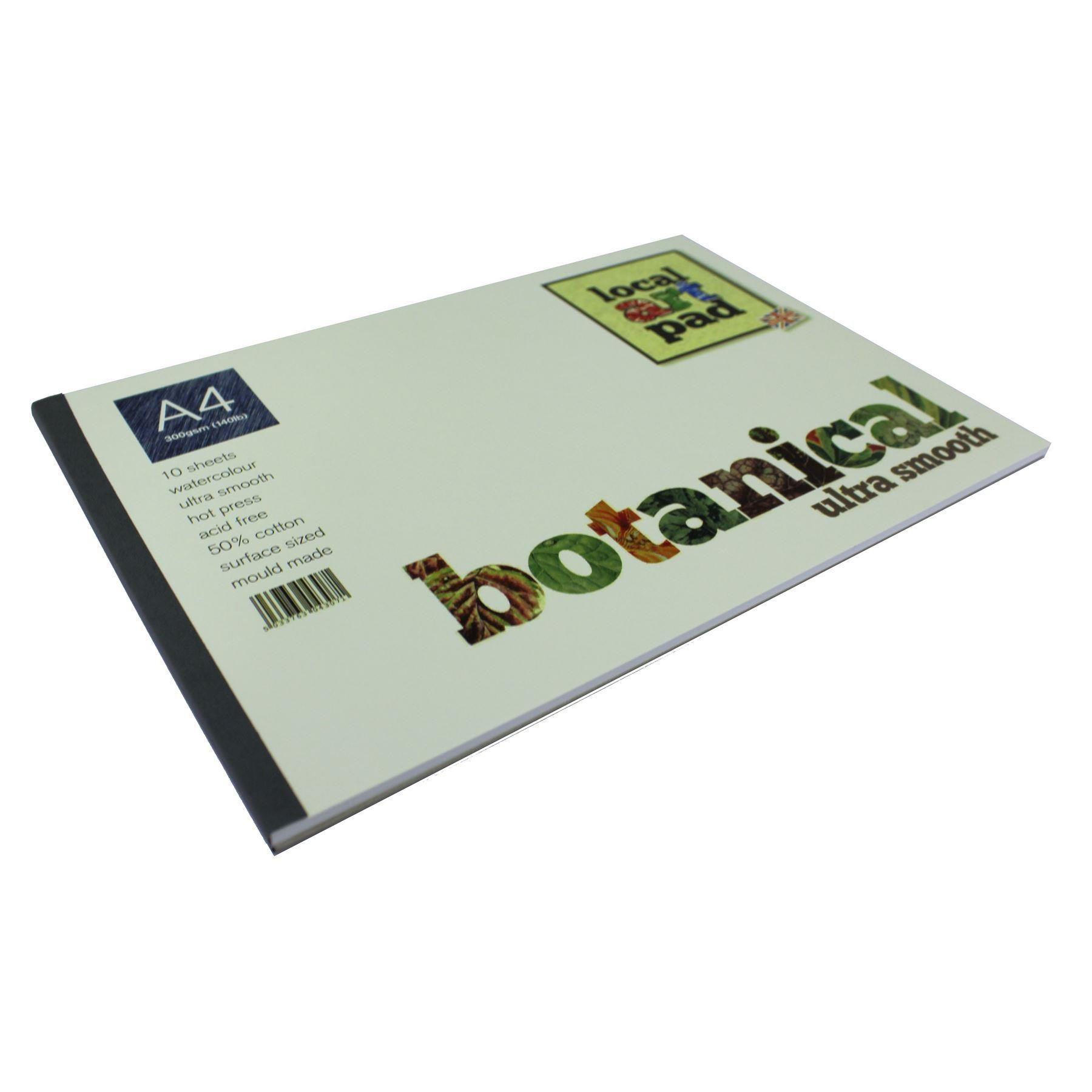 Local art pad Botanical Artists hotpress watercolour paper