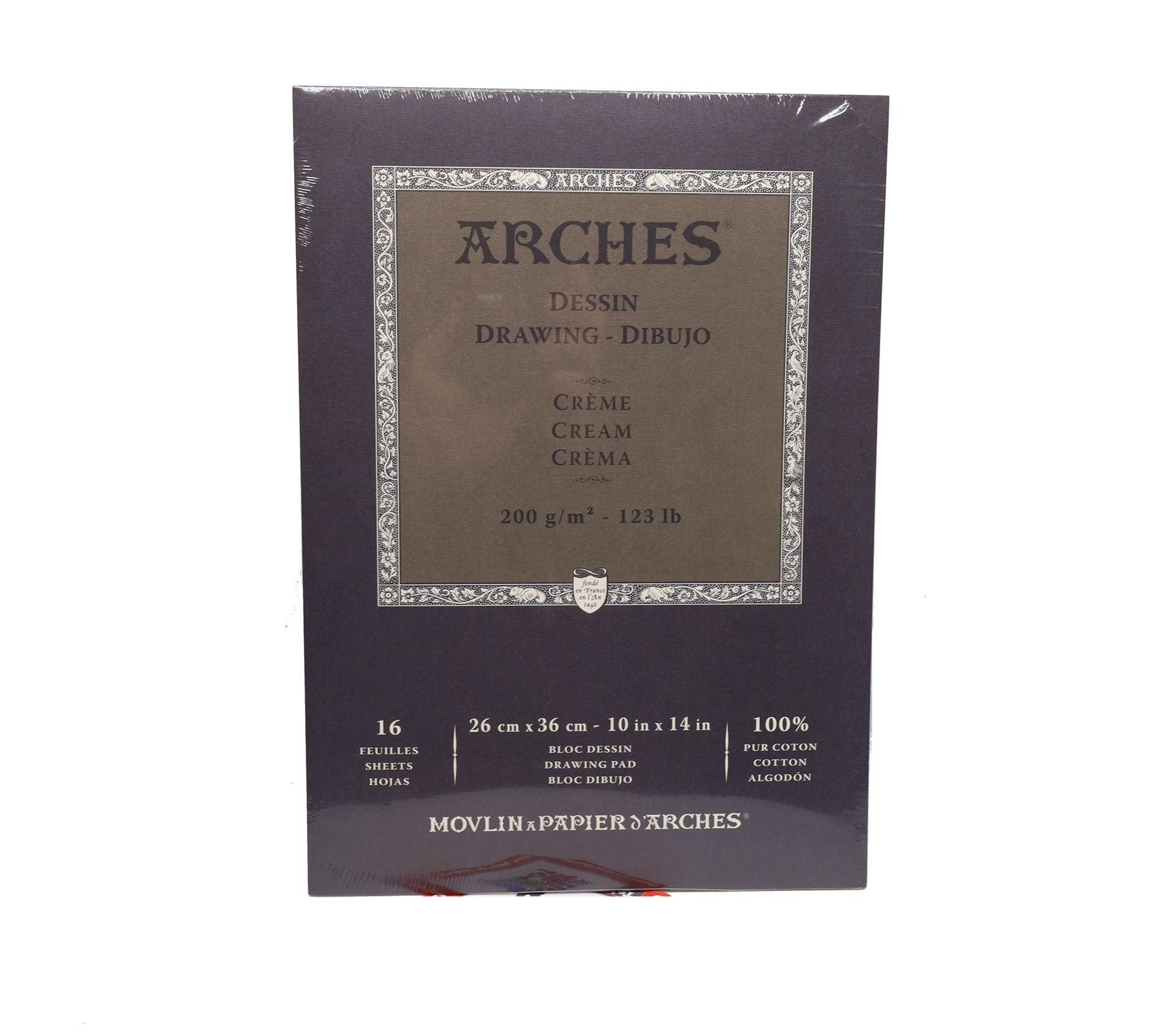 Canson Arches drawing cream Pad 16 Sheets - 26 x36cm